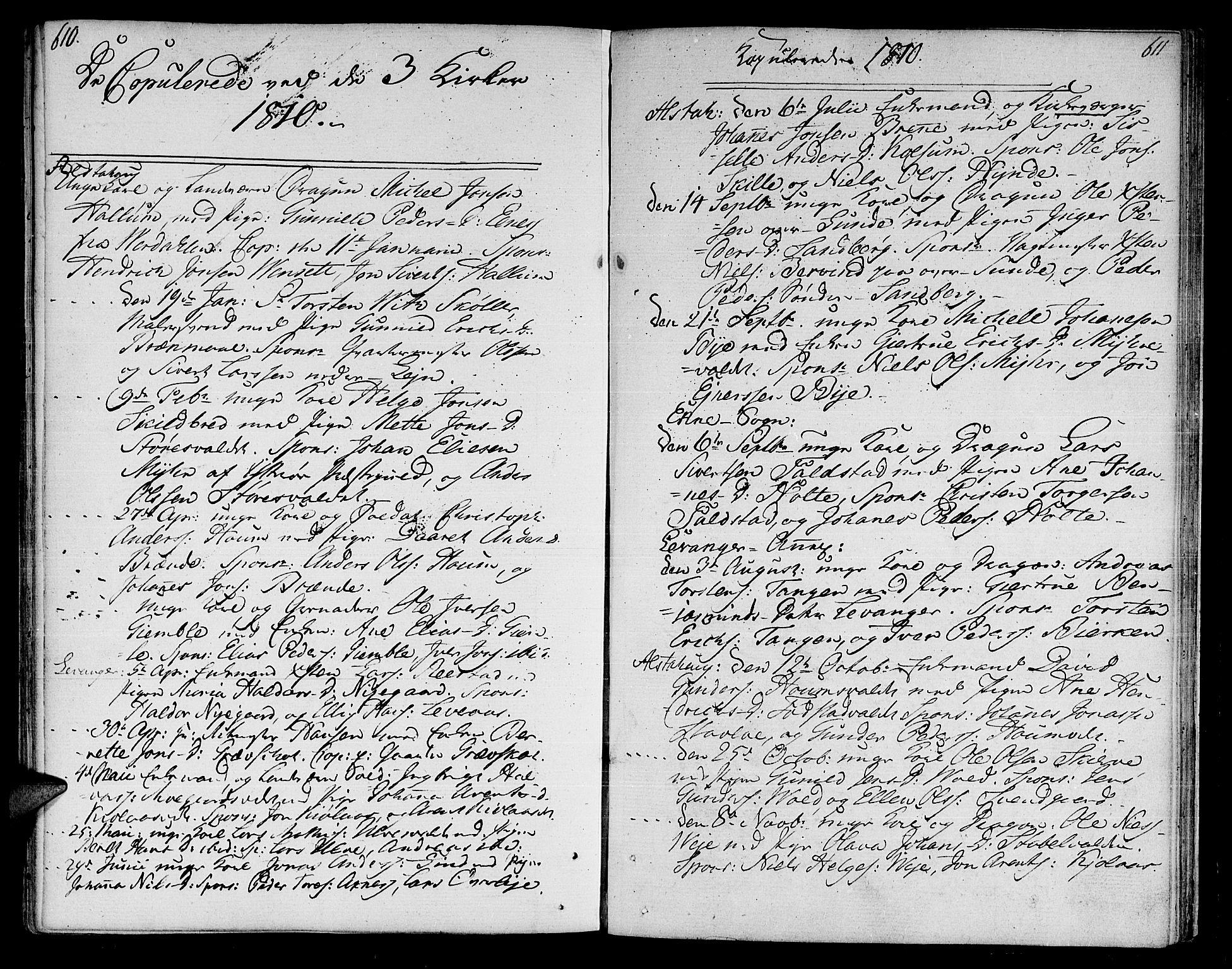 SAT, Ministerialprotokoller, klokkerbøker og fødselsregistre - Nord-Trøndelag, 717/L0145: Ministerialbok nr. 717A03 /1, 1810-1815, s. 610-611