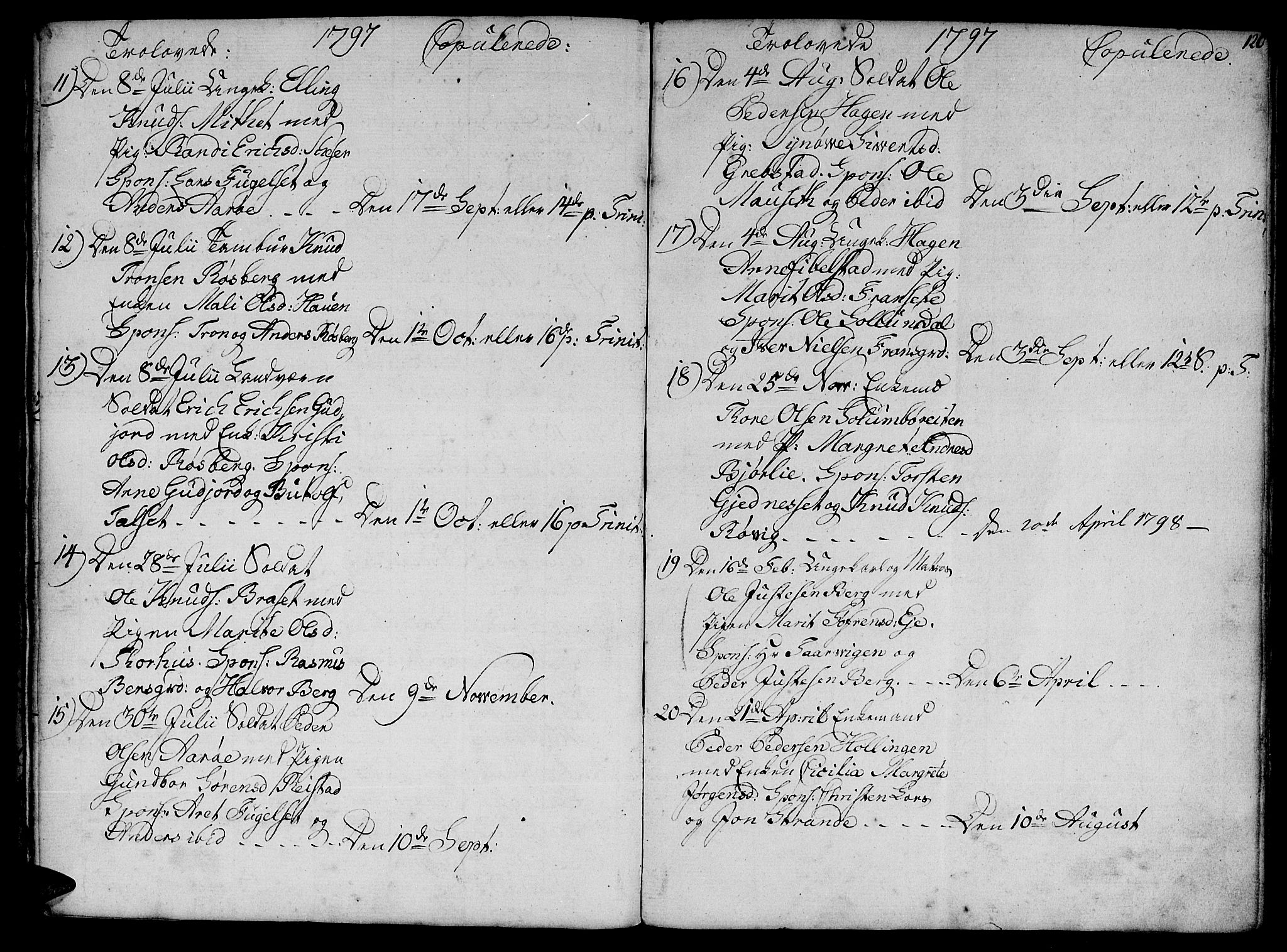 SAT, Ministerialprotokoller, klokkerbøker og fødselsregistre - Møre og Romsdal, 555/L0649: Ministerialbok nr. 555A02 /1, 1795-1821, s. 120