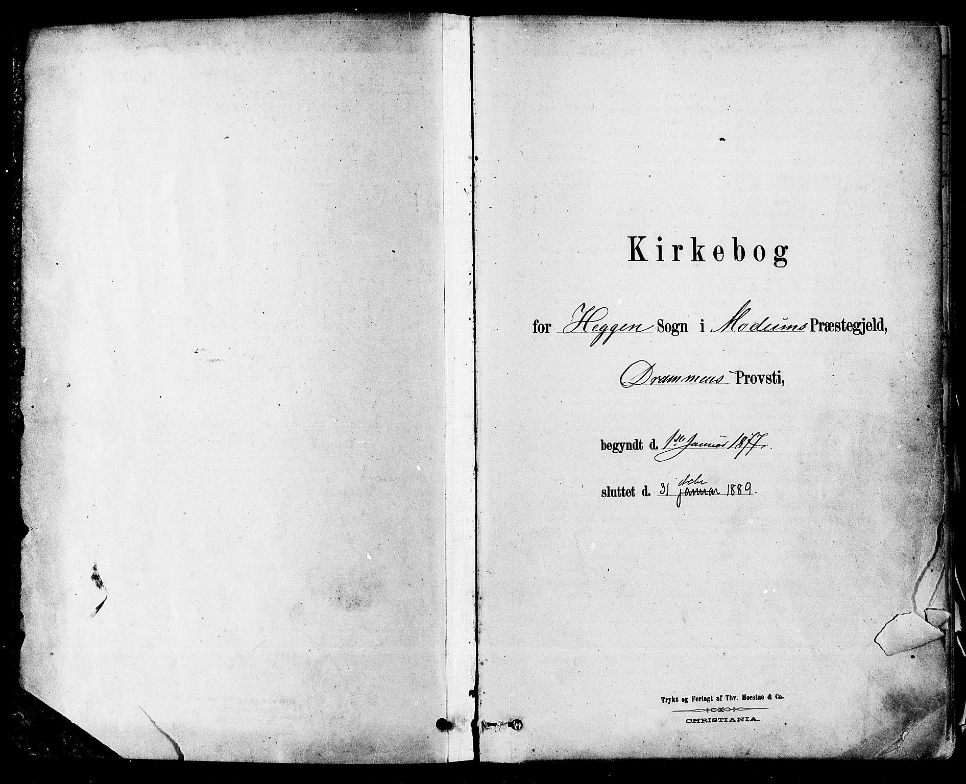 SAKO, Modum kirkebøker, F/Fa/L0011: Ministerialbok nr. 11, 1877-1889
