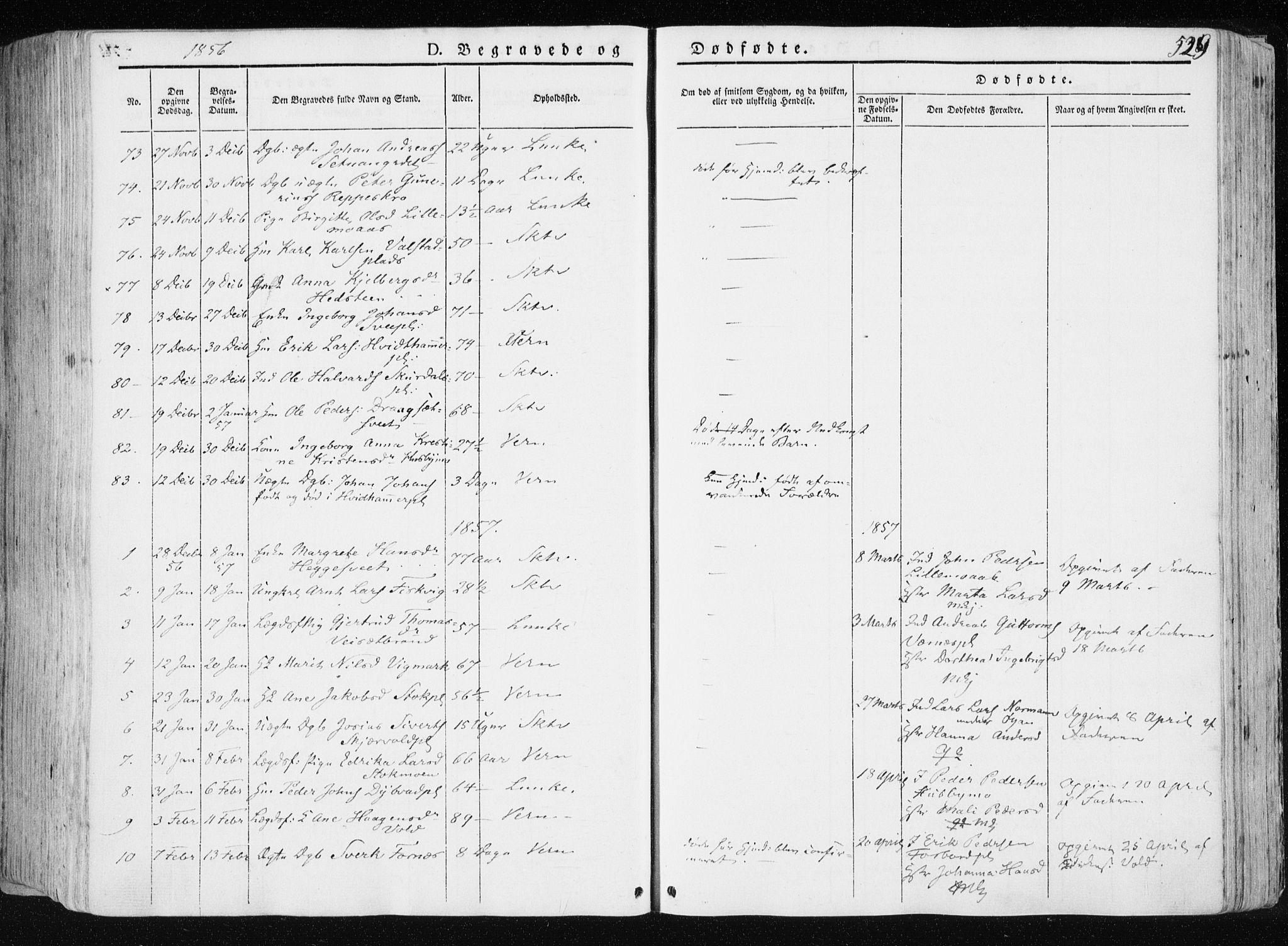 SAT, Ministerialprotokoller, klokkerbøker og fødselsregistre - Nord-Trøndelag, 709/L0074: Ministerialbok nr. 709A14, 1845-1858, s. 529