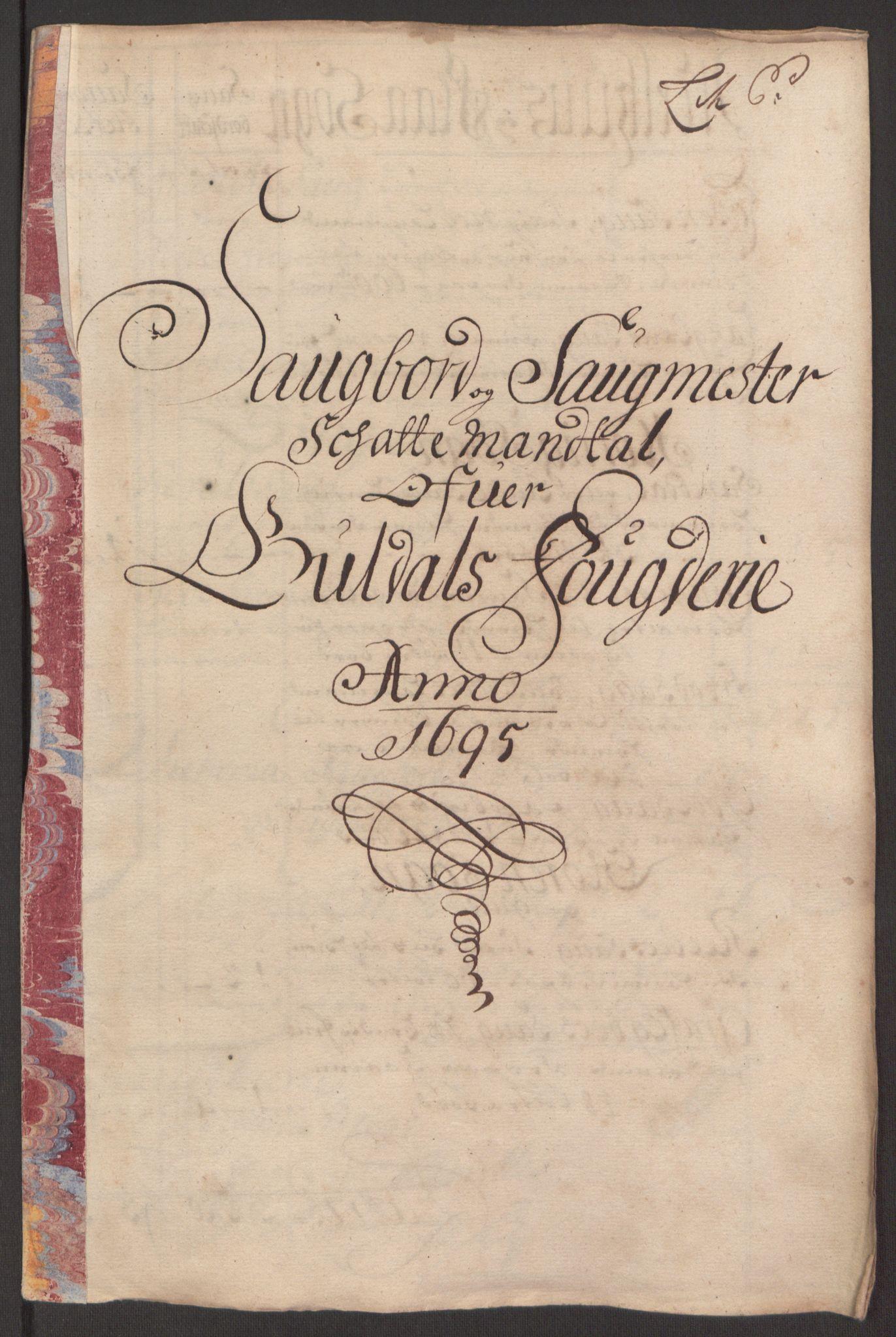 RA, Rentekammeret inntil 1814, Reviderte regnskaper, Fogderegnskap, R60/L3945: Fogderegnskap Orkdal og Gauldal, 1695, s. 343