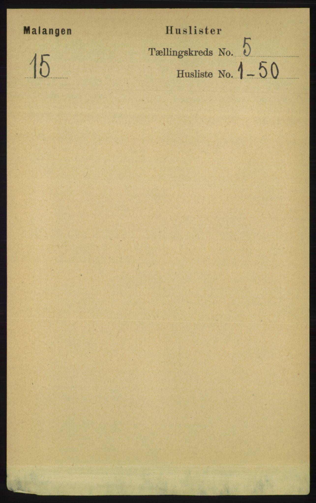 RA, Folketelling 1891 for 1932 Malangen herred, 1891, s. 1479