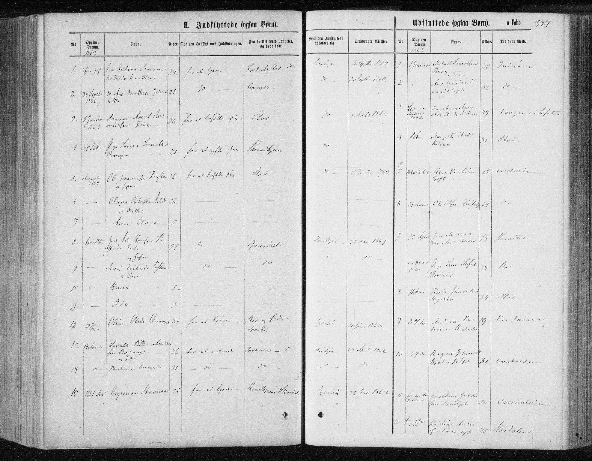 SAT, Ministerialprotokoller, klokkerbøker og fødselsregistre - Nord-Trøndelag, 735/L0345: Ministerialbok nr. 735A08 /1, 1863-1872, s. 337