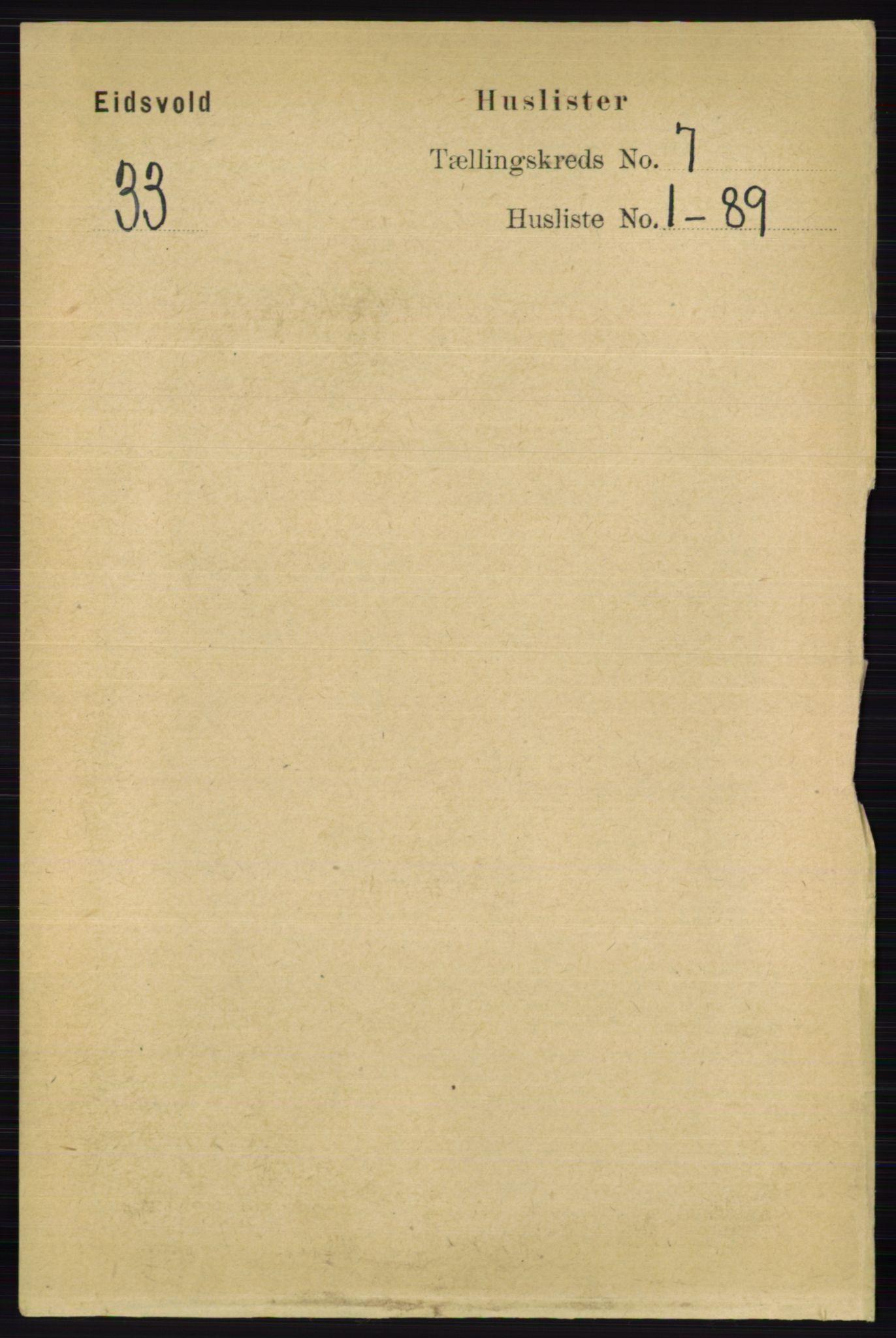 RA, Folketelling 1891 for 0237 Eidsvoll herred, 1891, s. 4506