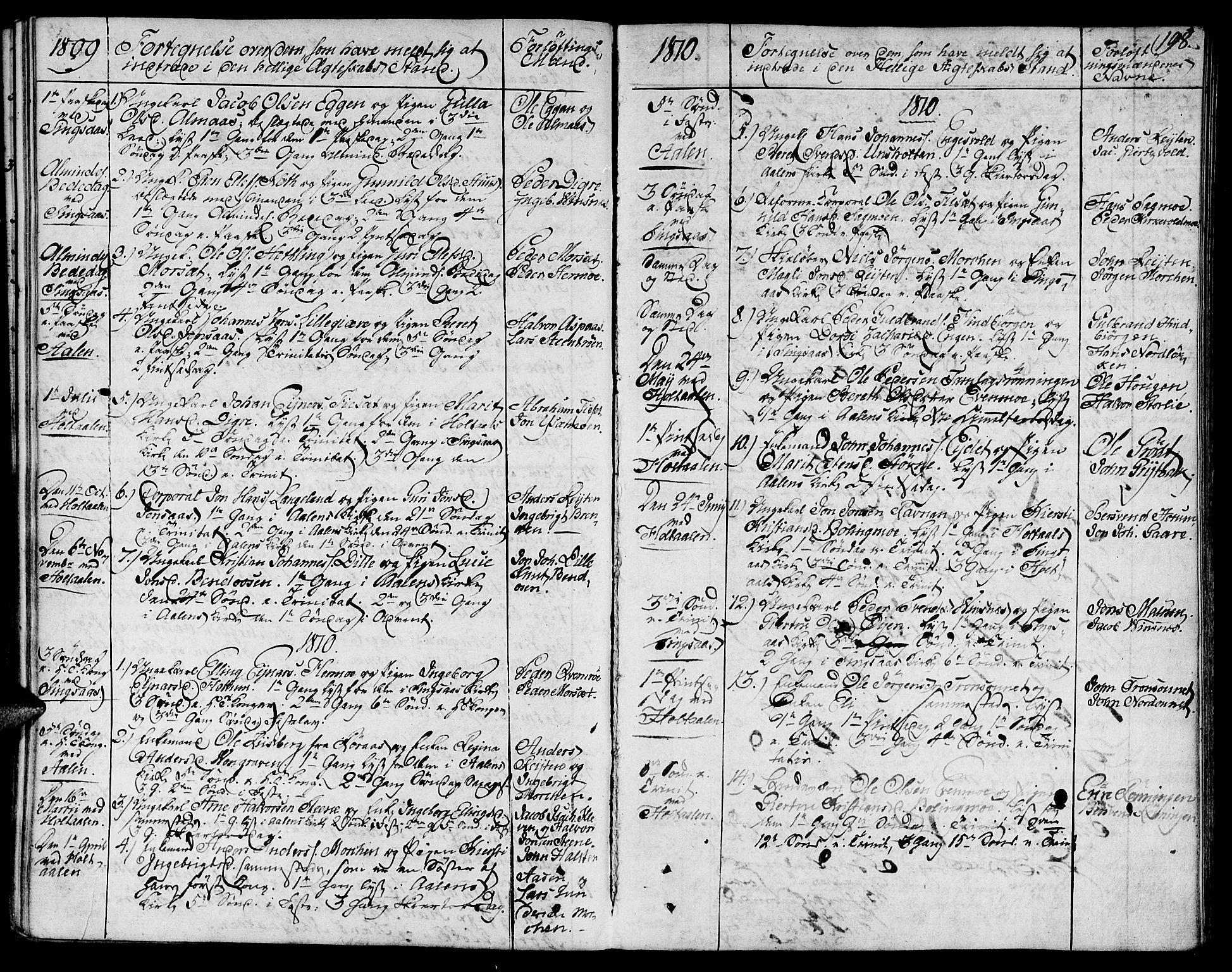 SAT, Ministerialprotokoller, klokkerbøker og fødselsregistre - Sør-Trøndelag, 685/L0953: Ministerialbok nr. 685A02, 1805-1816, s. 198
