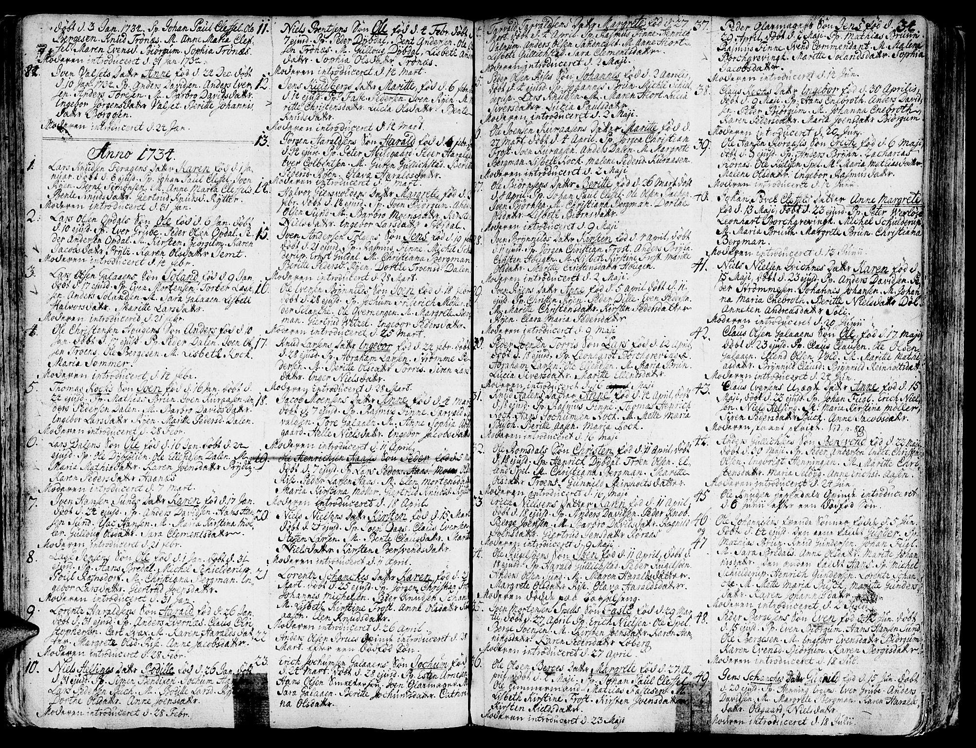 SAT, Ministerialprotokoller, klokkerbøker og fødselsregistre - Sør-Trøndelag, 681/L0925: Ministerialbok nr. 681A03, 1727-1766, s. 34