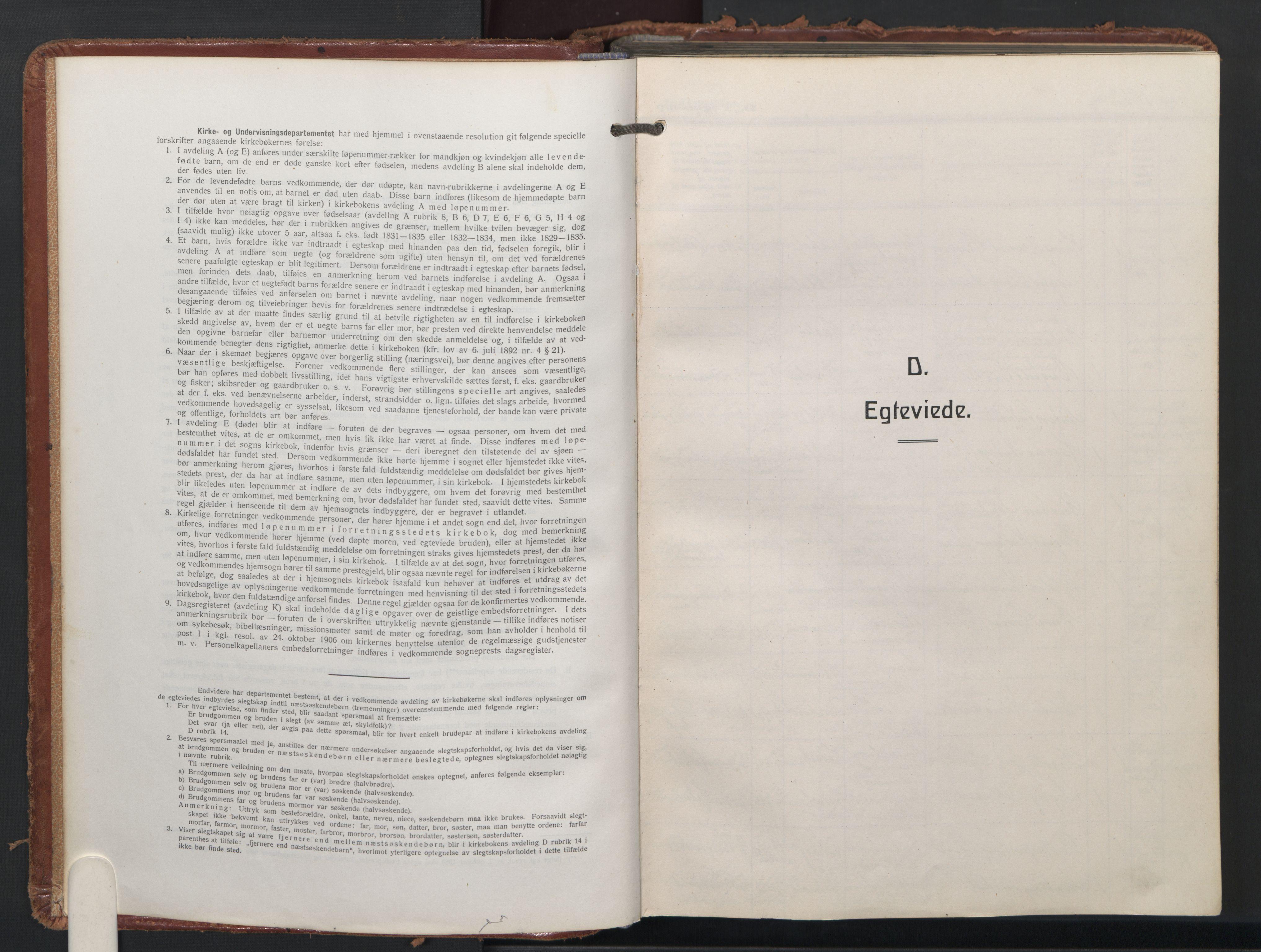 SAO, Trefoldighet prestekontor Kirkebøker, F/Fc/L0009: Ministerialbok nr. III 9, 1922-1936