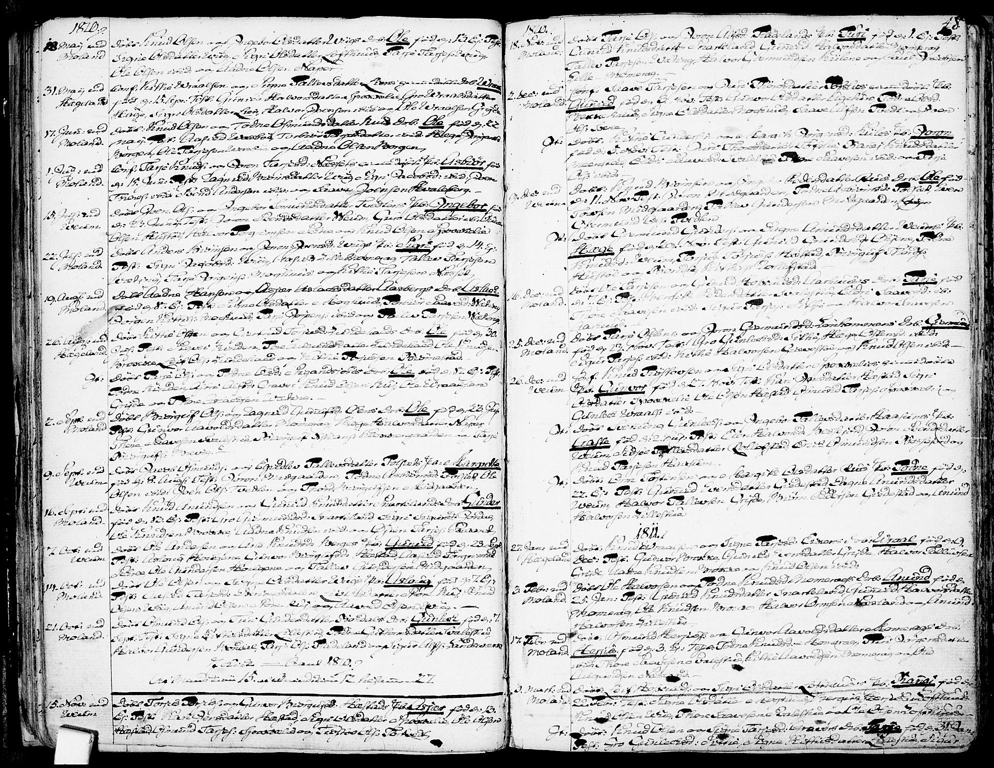 SAKO, Fyresdal kirkebøker, F/Fa/L0002: Ministerialbok nr. I 2, 1769-1814, s. 48