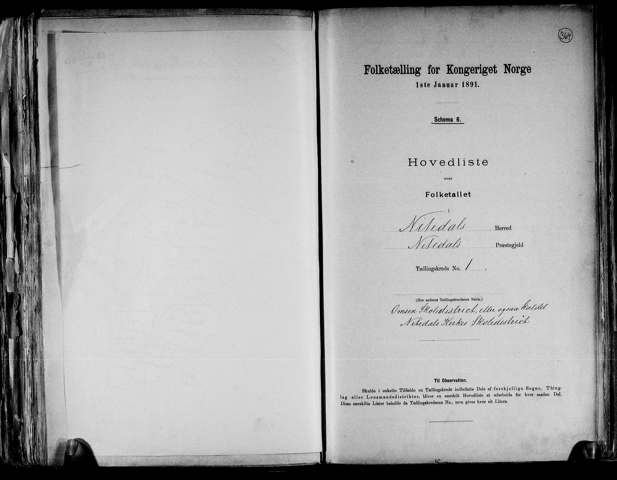 RA, Folketelling 1891 for 0233 Nittedal herred, 1891, s. 5