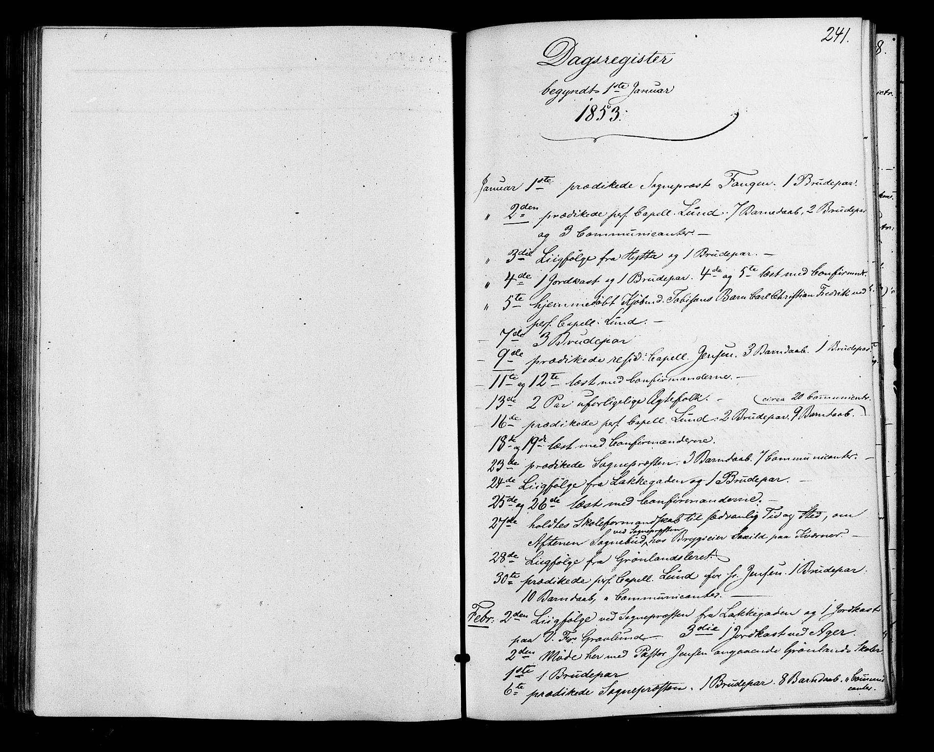SAO, Vestre Aker prestekontor Kirkebøker, F/Fa/L0001: Ministerialbok nr. 1, 1853-1858, s. 241