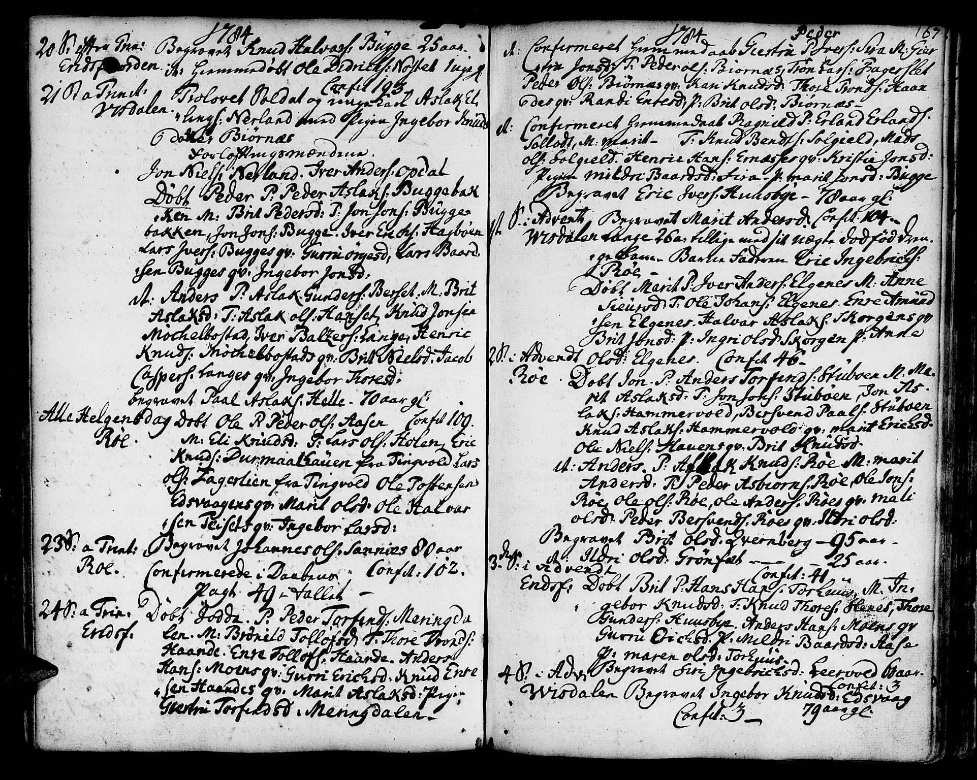 SAT, Ministerialprotokoller, klokkerbøker og fødselsregistre - Møre og Romsdal, 551/L0621: Ministerialbok nr. 551A01, 1757-1803, s. 167