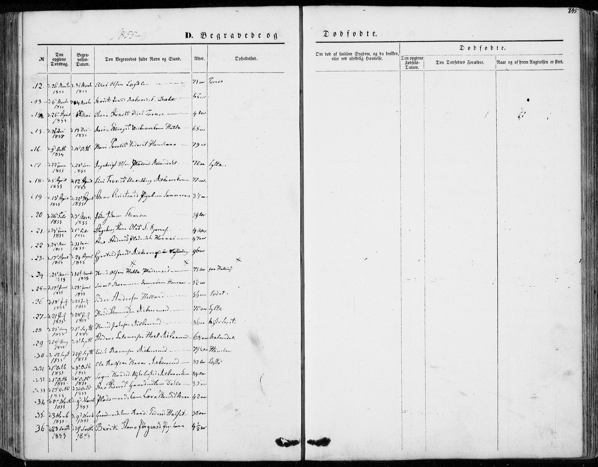 SAT, Ministerialprotokoller, klokkerbøker og fødselsregistre - Møre og Romsdal, 565/L0748: Ministerialbok nr. 565A02, 1845-1872, s. 245