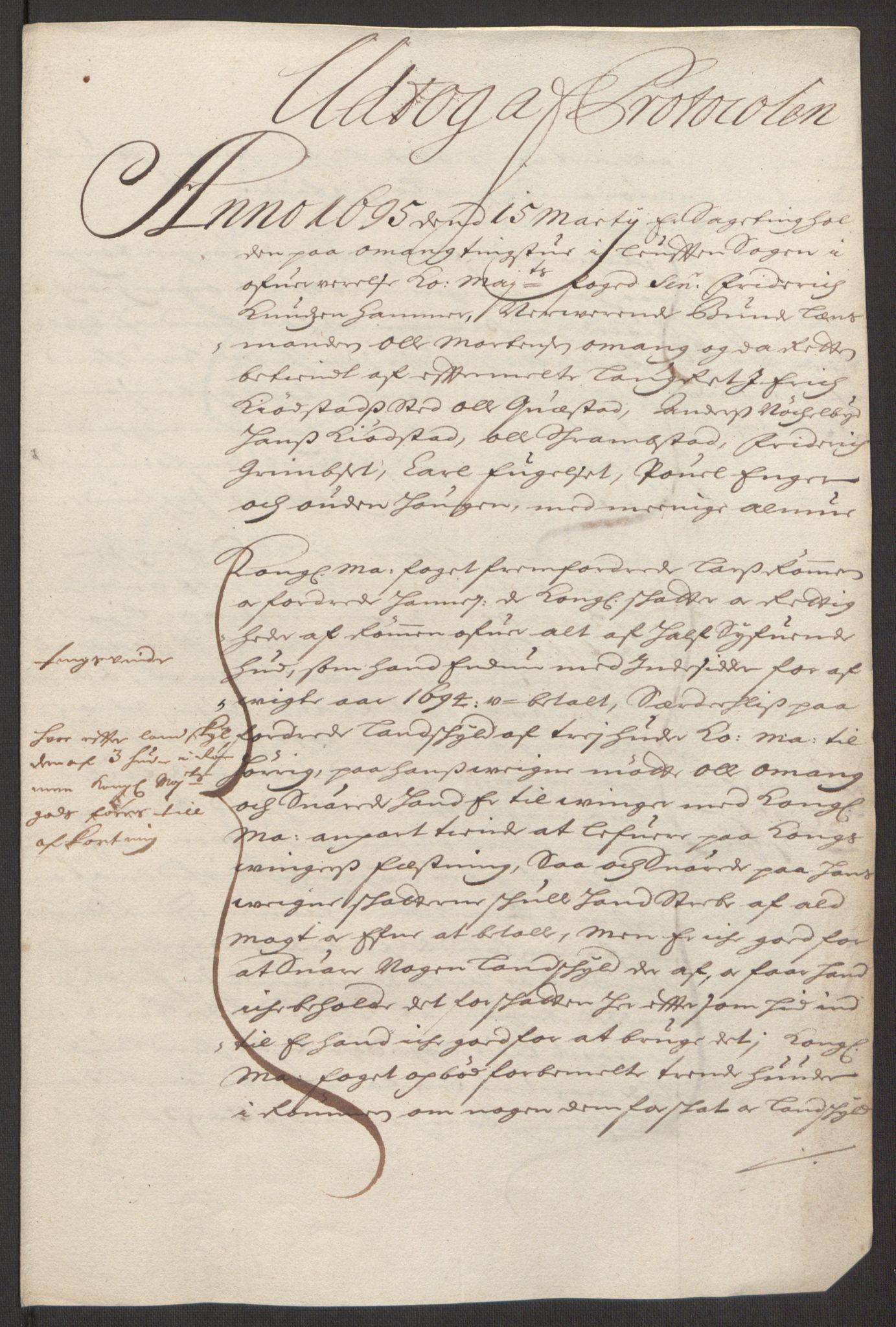 RA, Rentekammeret inntil 1814, Reviderte regnskaper, Fogderegnskap, R16/L1035: Fogderegnskap Hedmark, 1694, s. 200