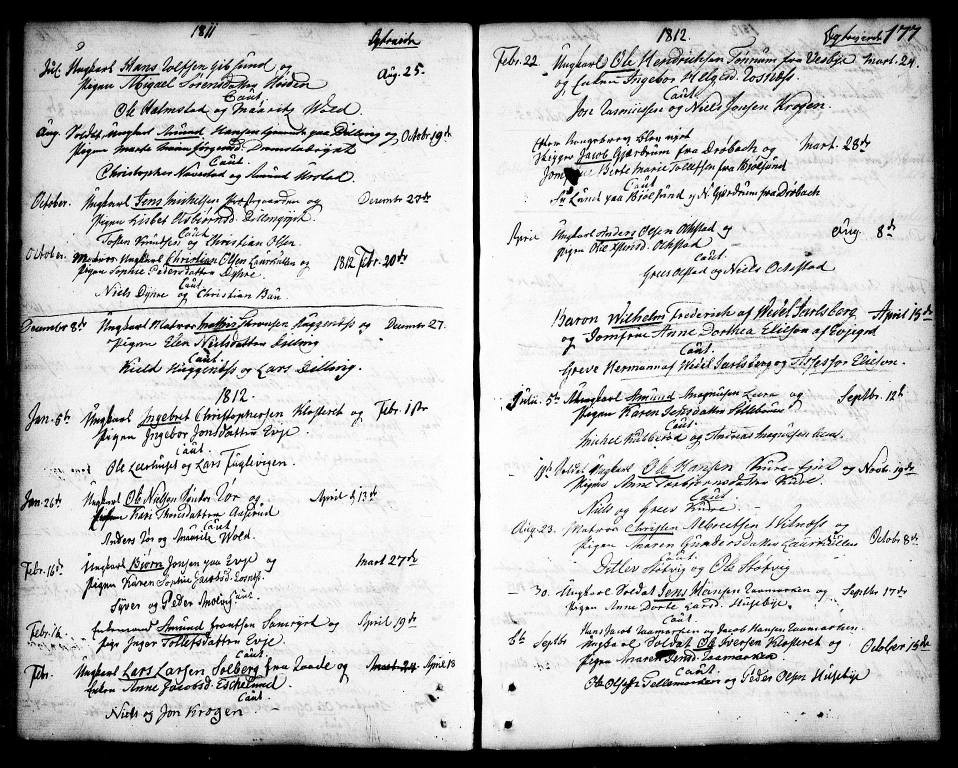 SAO, Rygge prestekontor Kirkebøker, F/Fa/L0002: Ministerialbok nr. 2, 1771-1814, s. 177