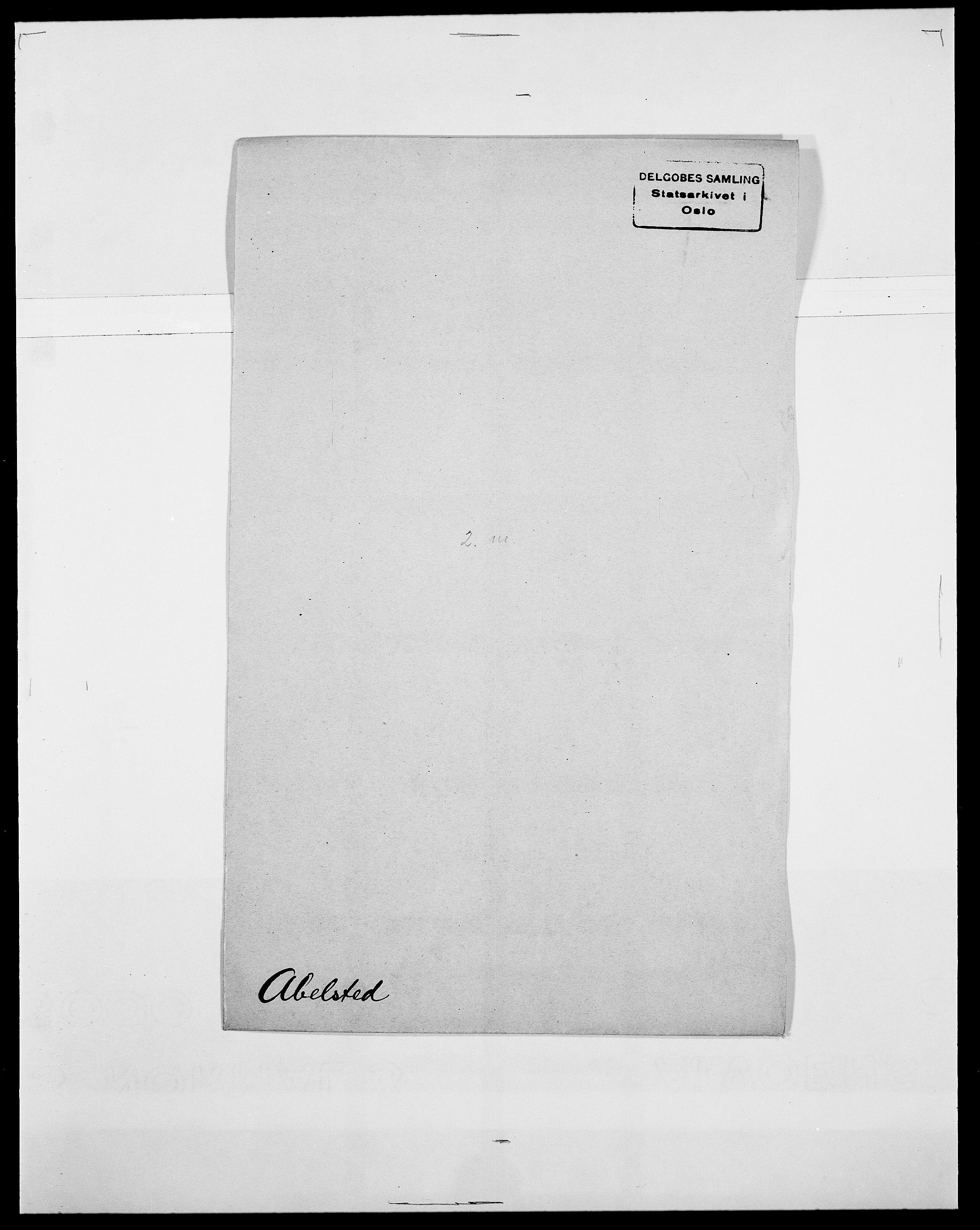SAO, Delgobe, Charles Antoine - samling, D/Da/L0001: Aabye - Angerman, s. 205