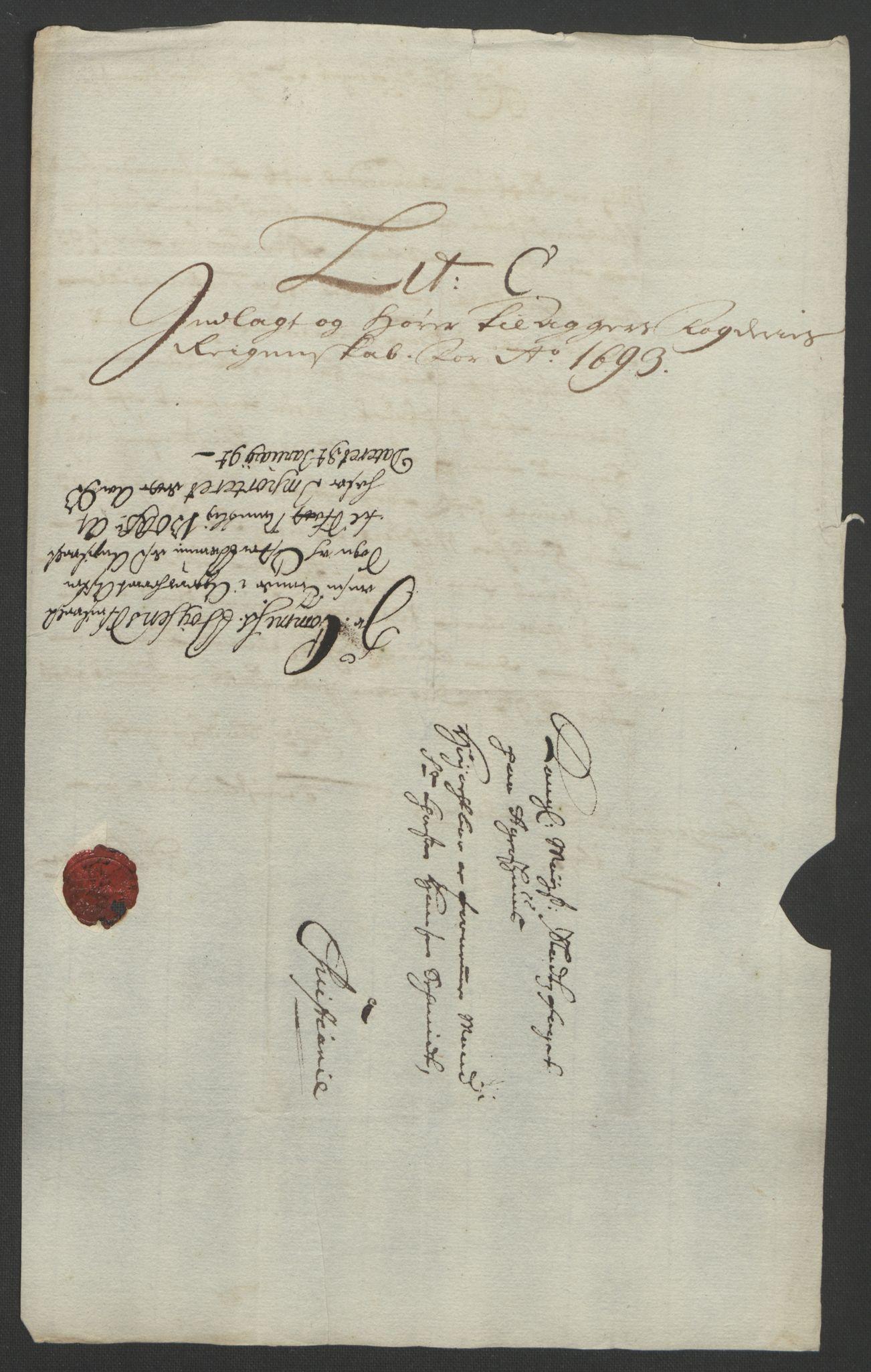 RA, Rentekammeret inntil 1814, Reviderte regnskaper, Fogderegnskap, R08/L0426: Fogderegnskap Aker, 1692-1693, s. 329