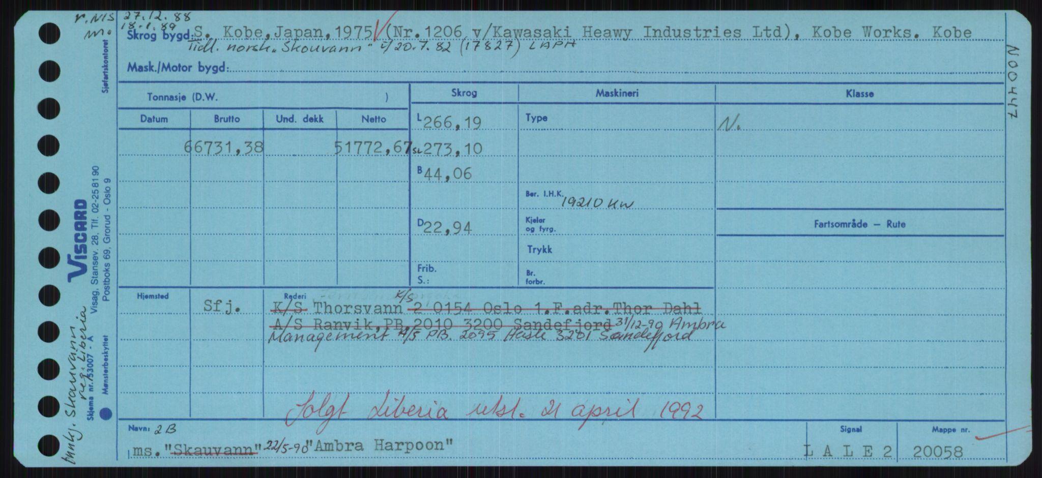 RA, Sjøfartsdirektoratet med forløpere, Skipsmålingen, H/Hd/L0001: Fartøy, A-Anv, s. 465