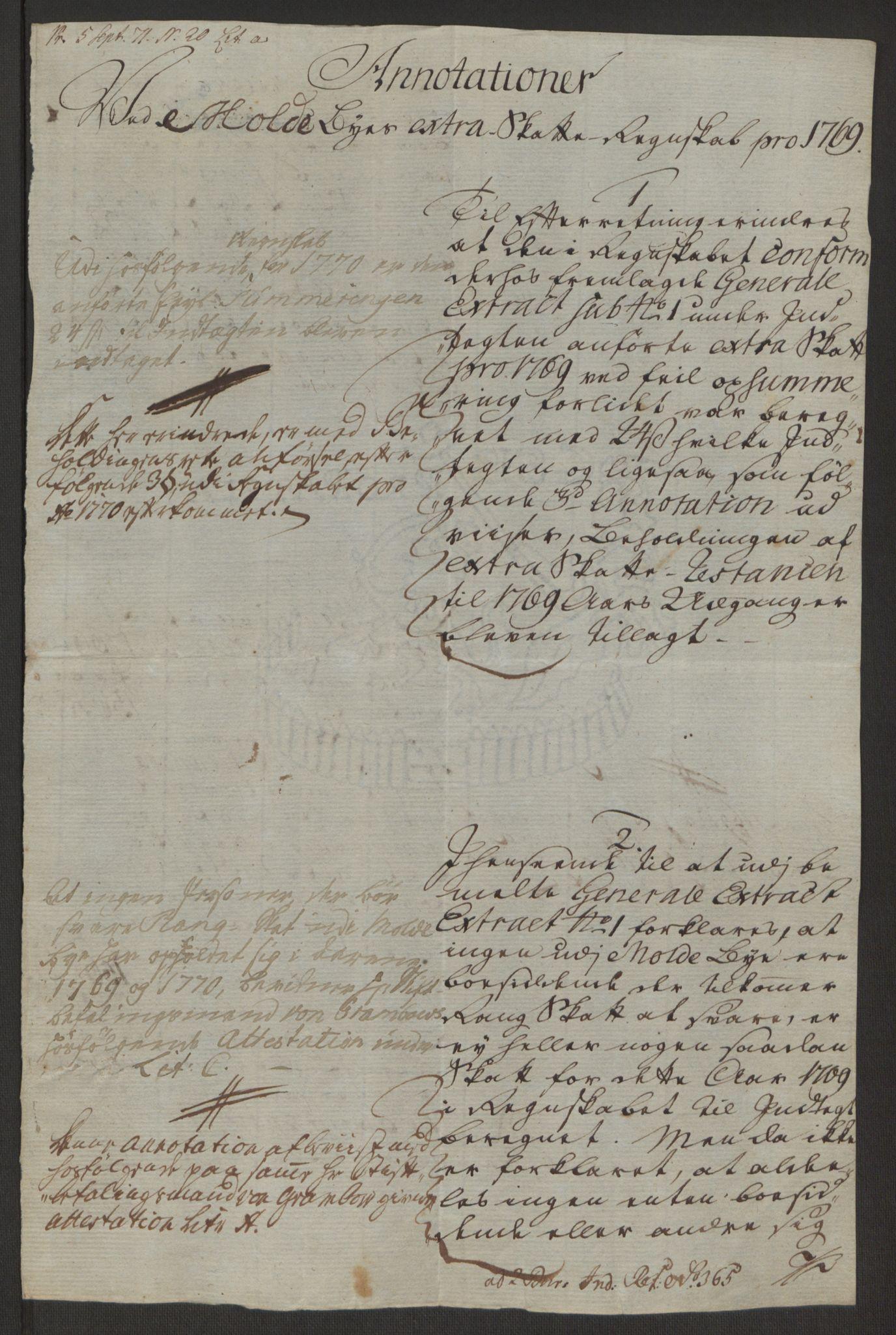 RA, Rentekammeret inntil 1814, Reviderte regnskaper, Byregnskaper, R/Rq/L0487: [Q1] Kontribusjonsregnskap, 1762-1772, s. 188