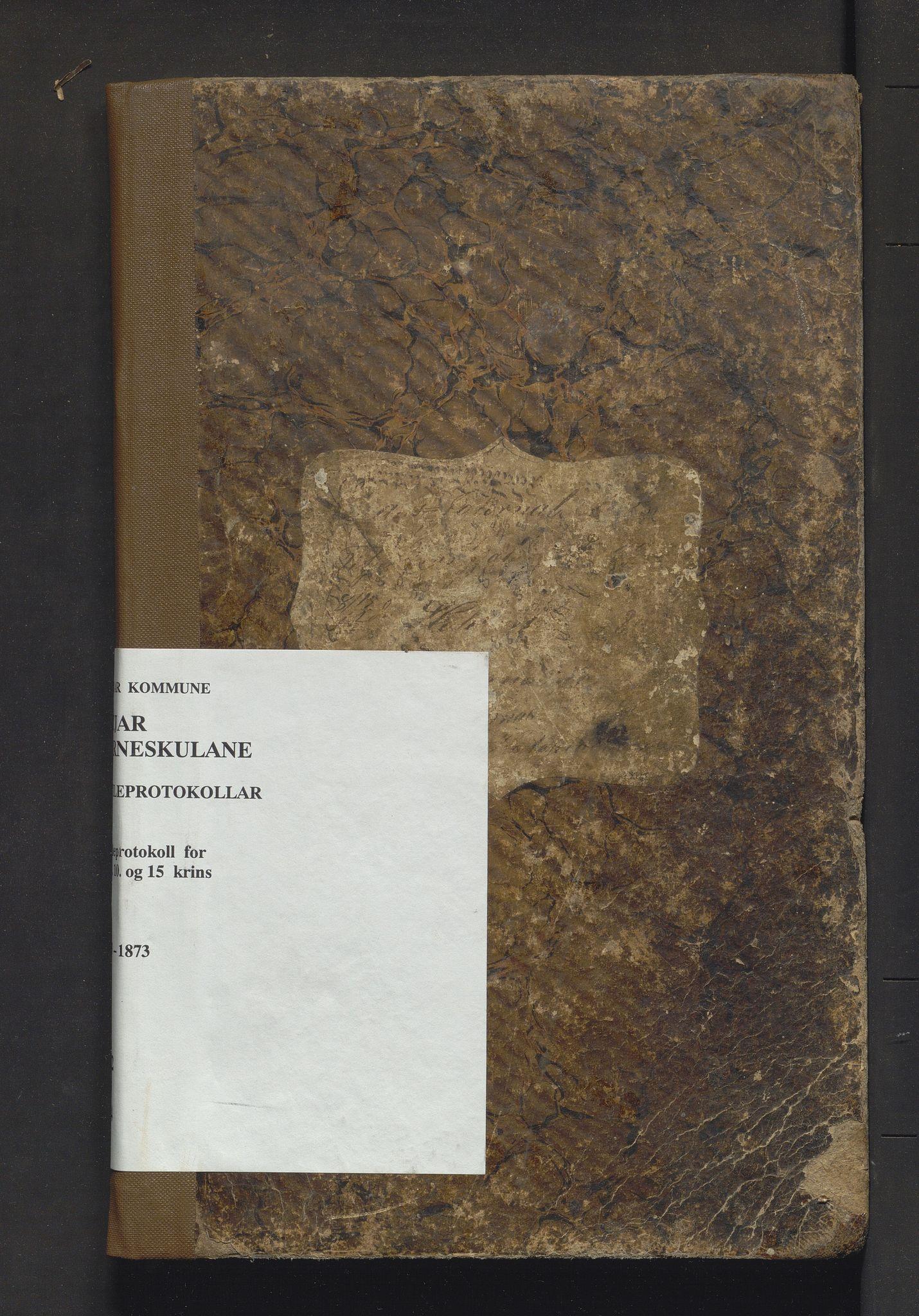 IKAH, Fitjar kommune. Barneskulane, F/Fa/L0004: Skuleprotokoll for 8. 9. 10. og 15. krinsar i Stordøen prestegjeld, 1863-1873
