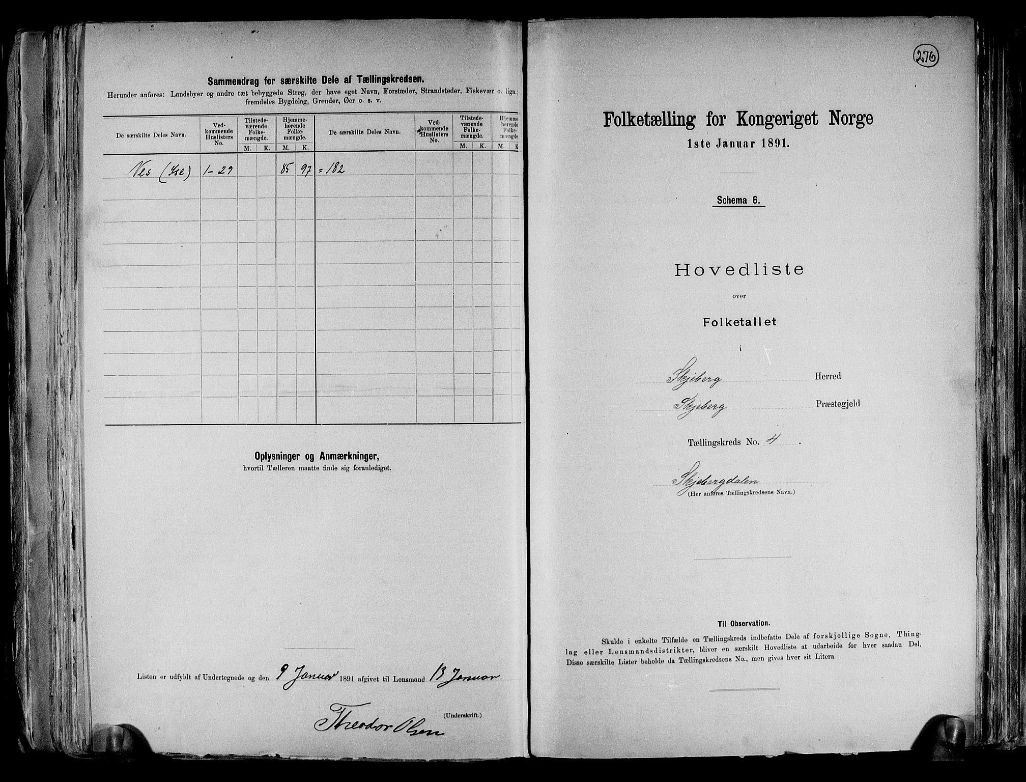 RA, Folketelling 1891 for 0115 Skjeberg herred, 1891, s. 12