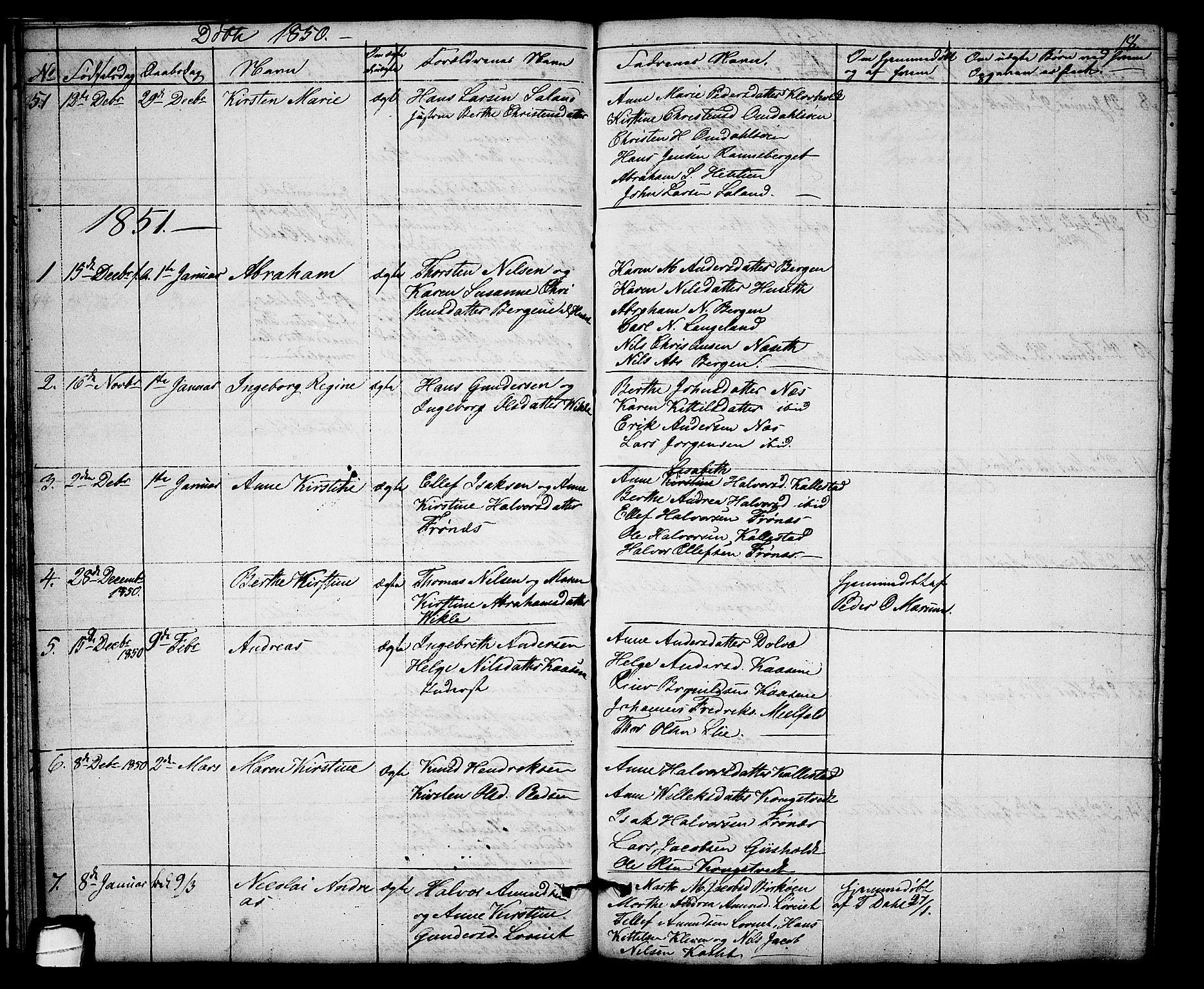 SAKO, Solum kirkebøker, G/Gb/L0001: Klokkerbok nr. II 1, 1848-1859, s. 18