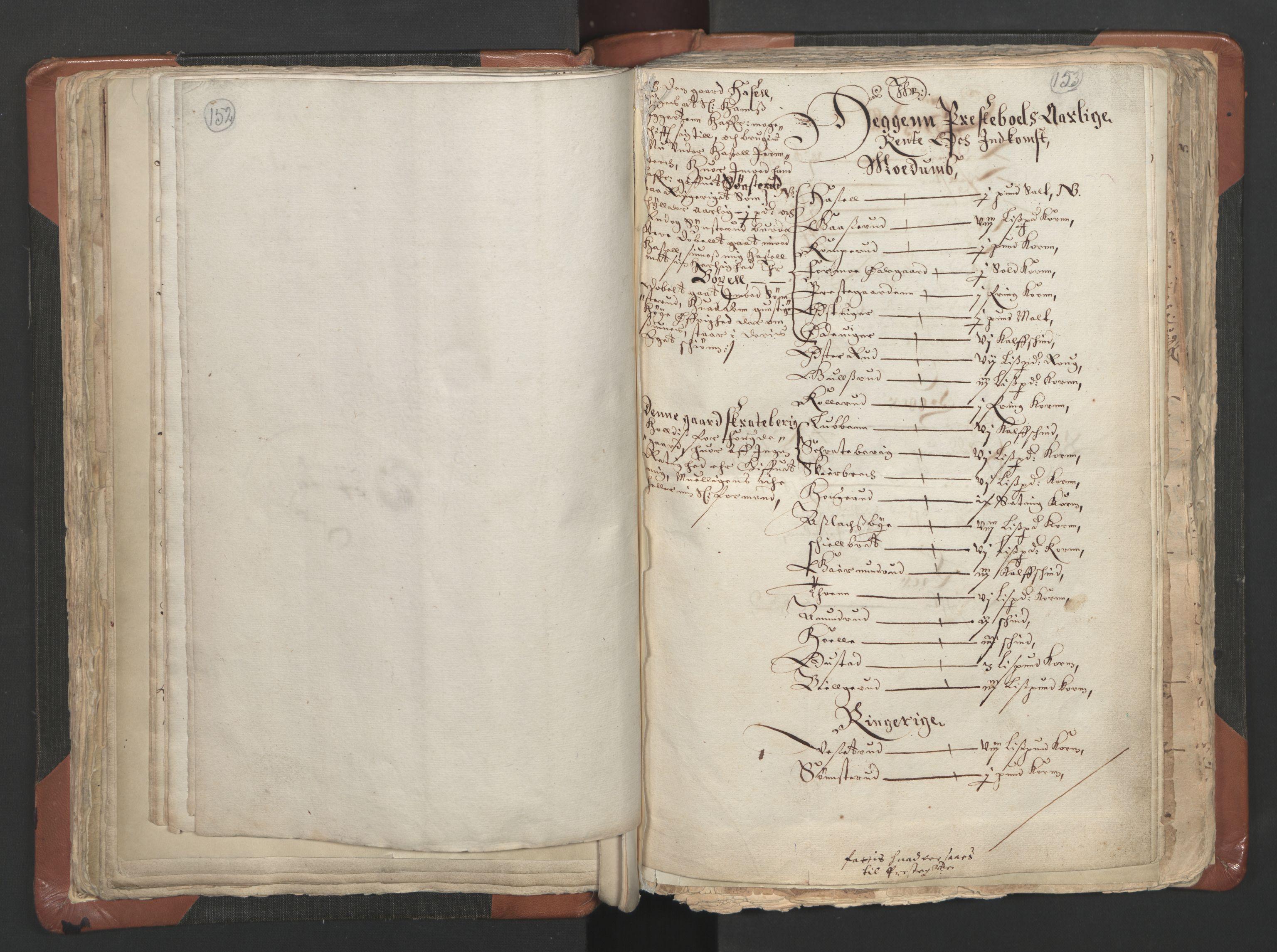 RA, Sogneprestenes manntall 1664-1666, nr. 9: Bragernes prosti, 1664-1666, s. 152-153