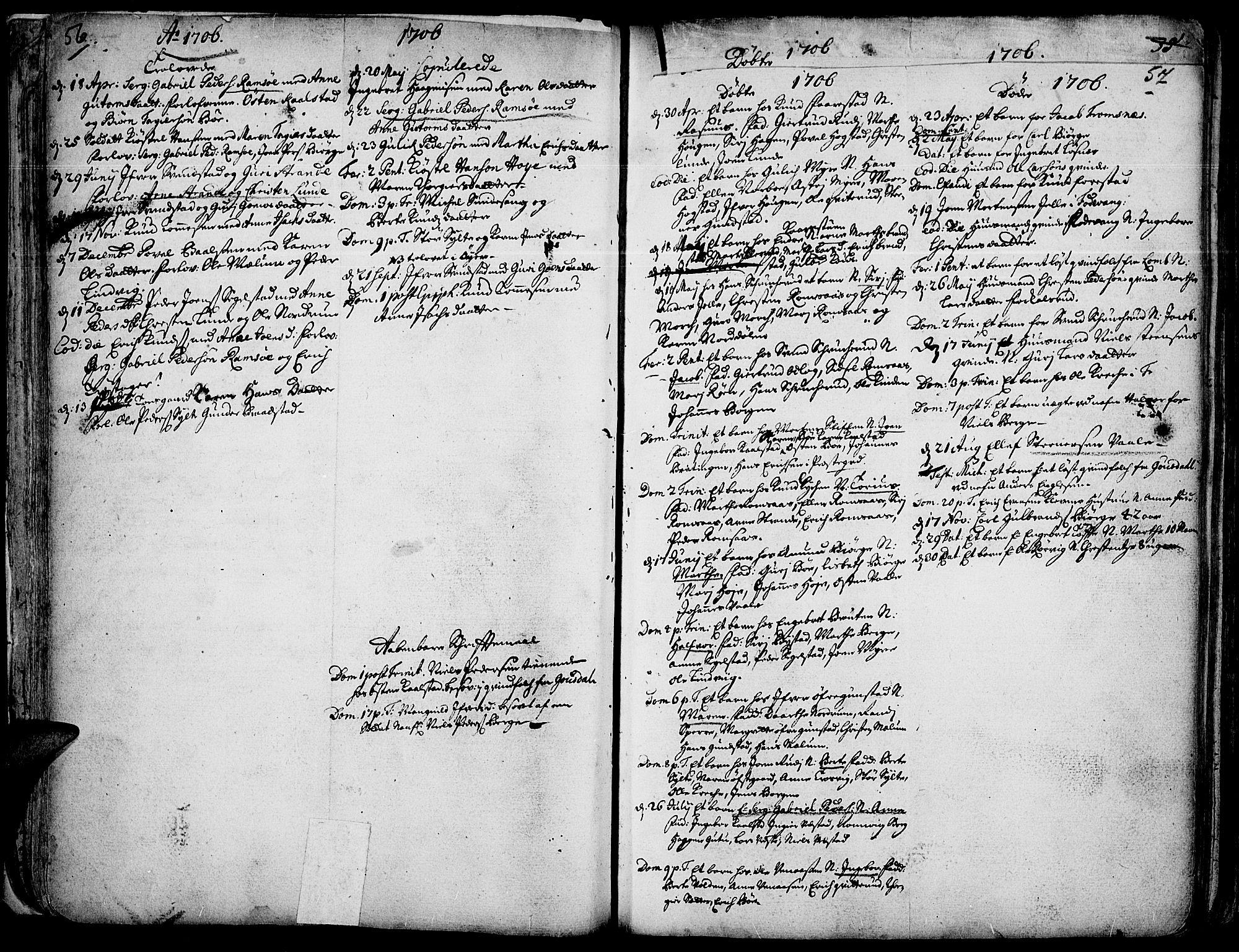 SAH, Ringebu prestekontor, Ministerialbok nr. 1, 1696-1733, s. 56-57