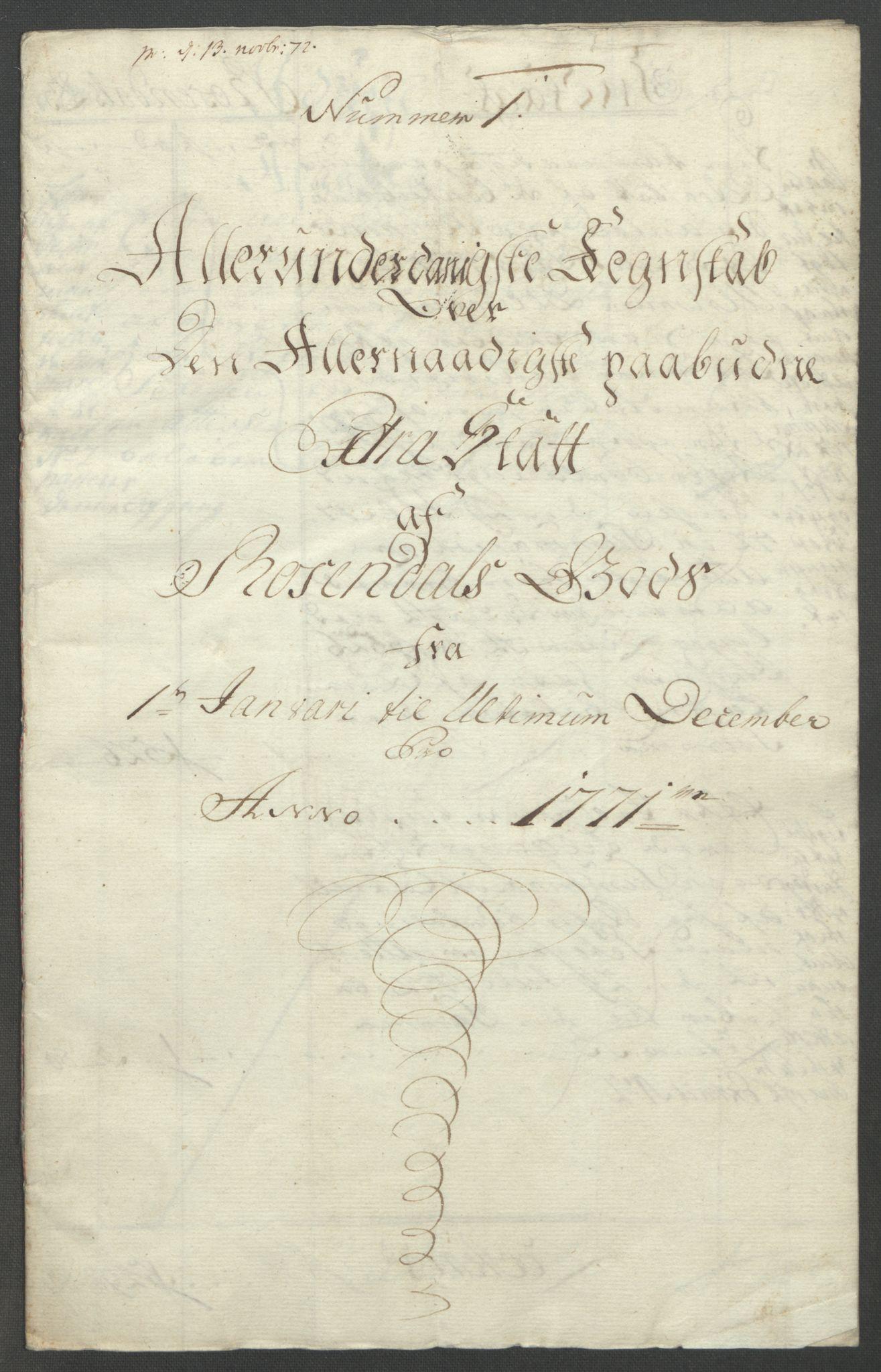 RA, Rentekammeret inntil 1814, Reviderte regnskaper, Fogderegnskap, R49/L3157: Ekstraskatten Rosendal Baroni, 1762-1772, s. 318