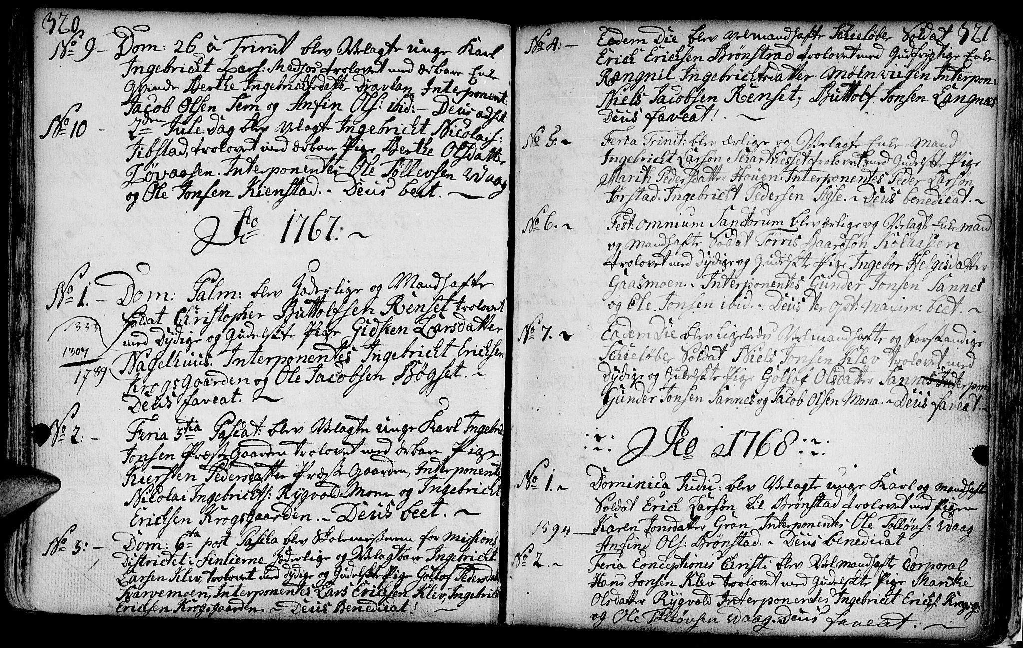 SAT, Ministerialprotokoller, klokkerbøker og fødselsregistre - Nord-Trøndelag, 749/L0467: Ministerialbok nr. 749A01, 1733-1787, s. 320-321