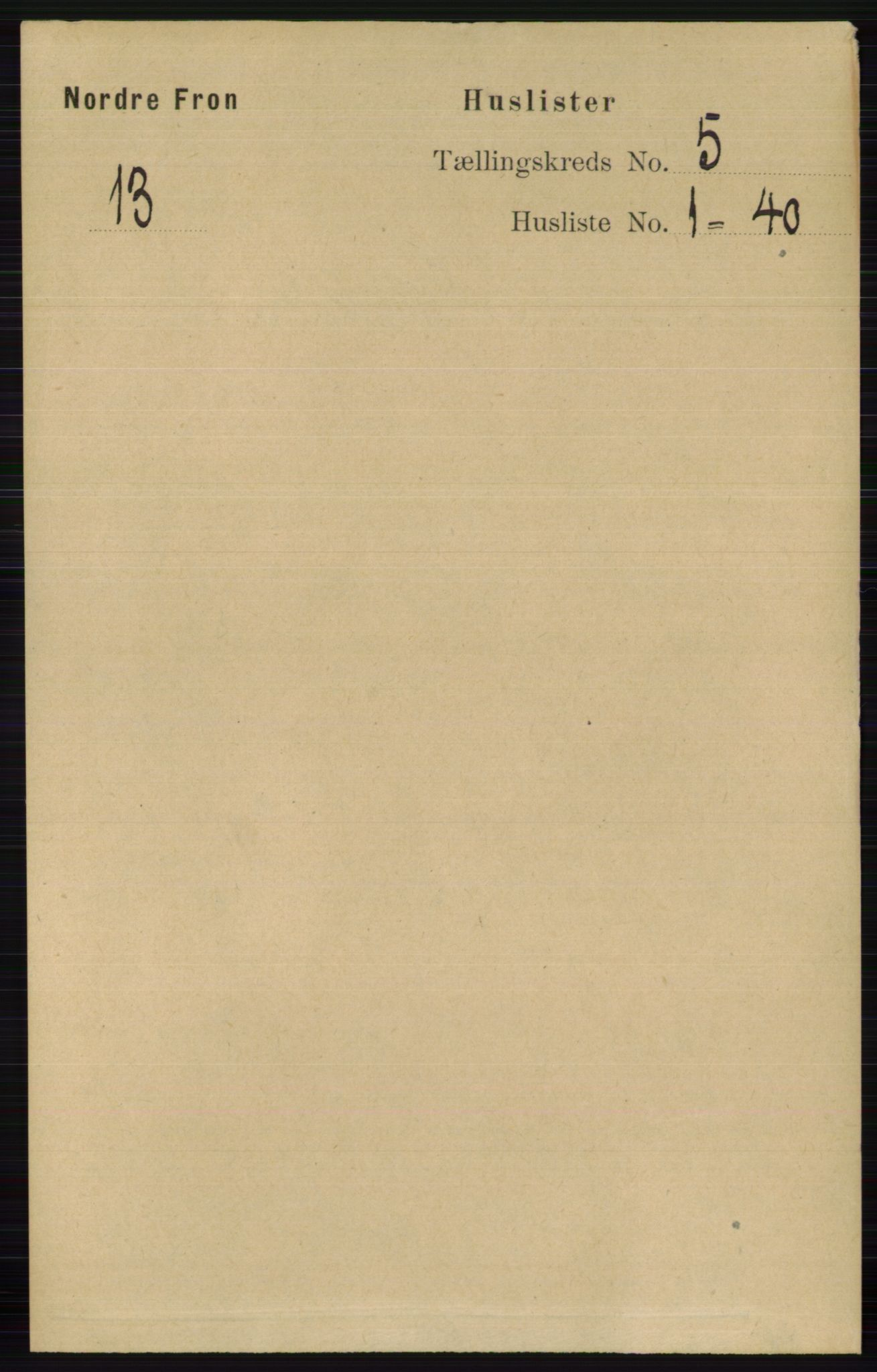 RA, Folketelling 1891 for 0518 Nord-Fron herred, 1891, s. 1921