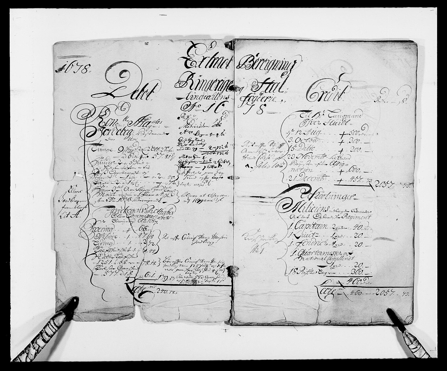 RA, Rentekammeret inntil 1814, Reviderte regnskaper, Fogderegnskap, R21/L1443: Fogderegnskap Ringerike og Hallingdal, 1678-1680, s. 2