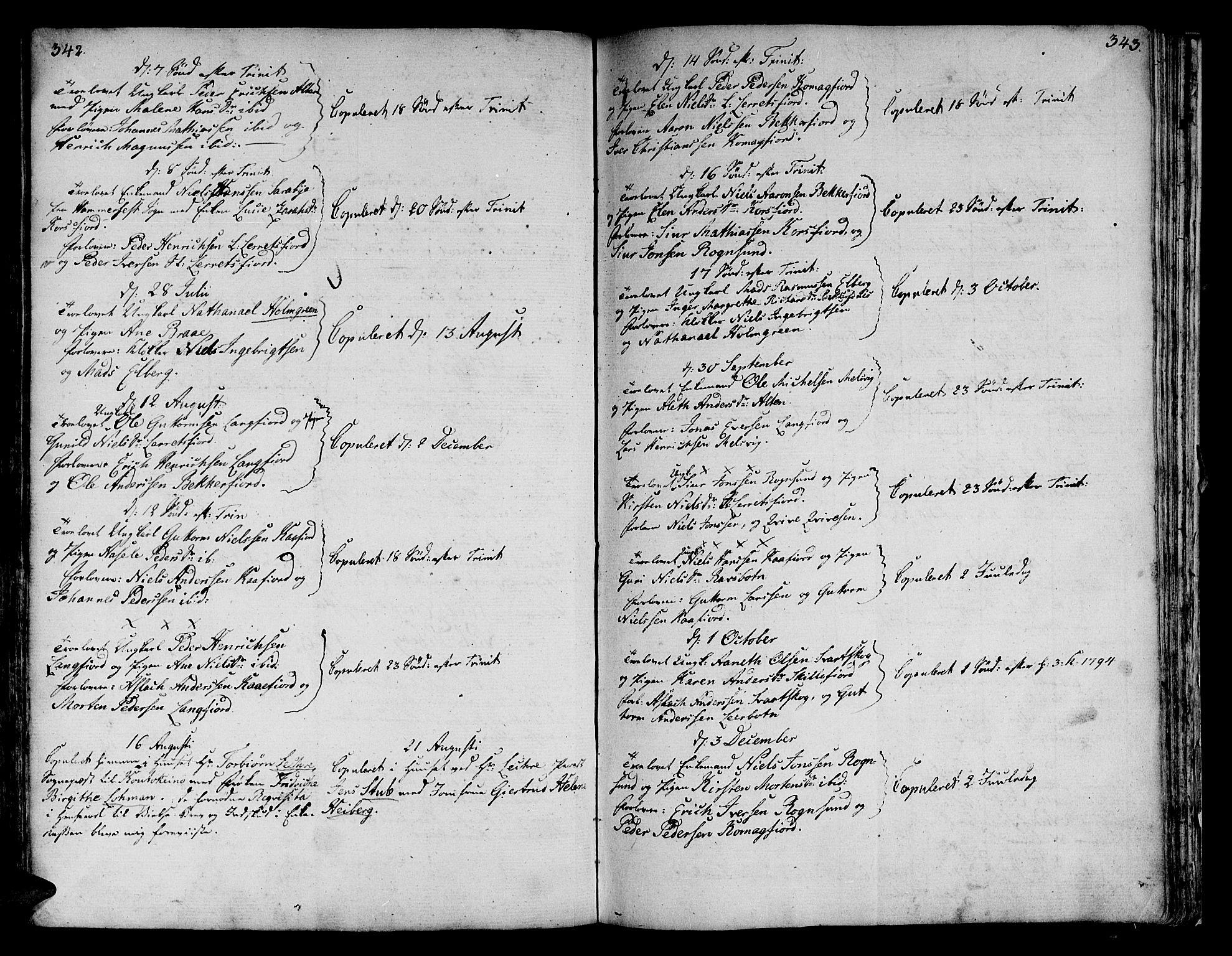 SATØ, Talvik sokneprestkontor, H/Ha/L0005kirke: Ministerialbok nr. 5, 1772-1798, s. 342-343