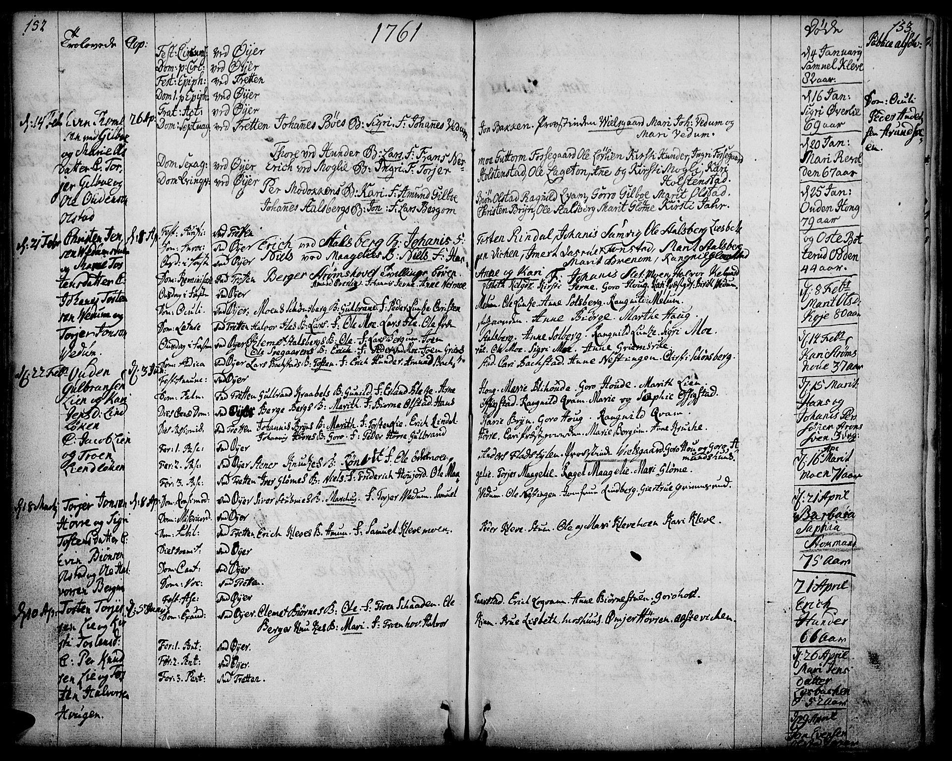 SAH, Øyer prestekontor, Ministerialbok nr. 2, 1733-1784, s. 152-153