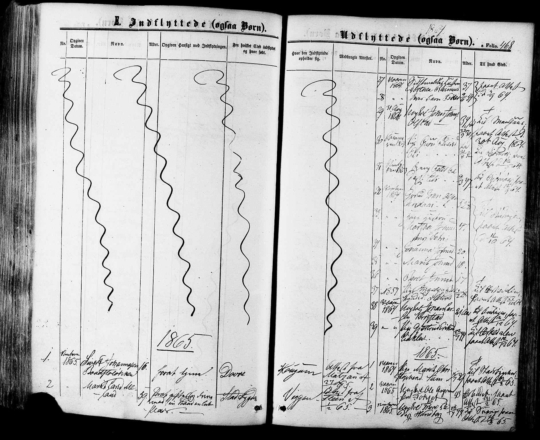 SAT, Ministerialprotokoller, klokkerbøker og fødselsregistre - Sør-Trøndelag, 665/L0772: Ministerialbok nr. 665A07, 1856-1878, s. 468