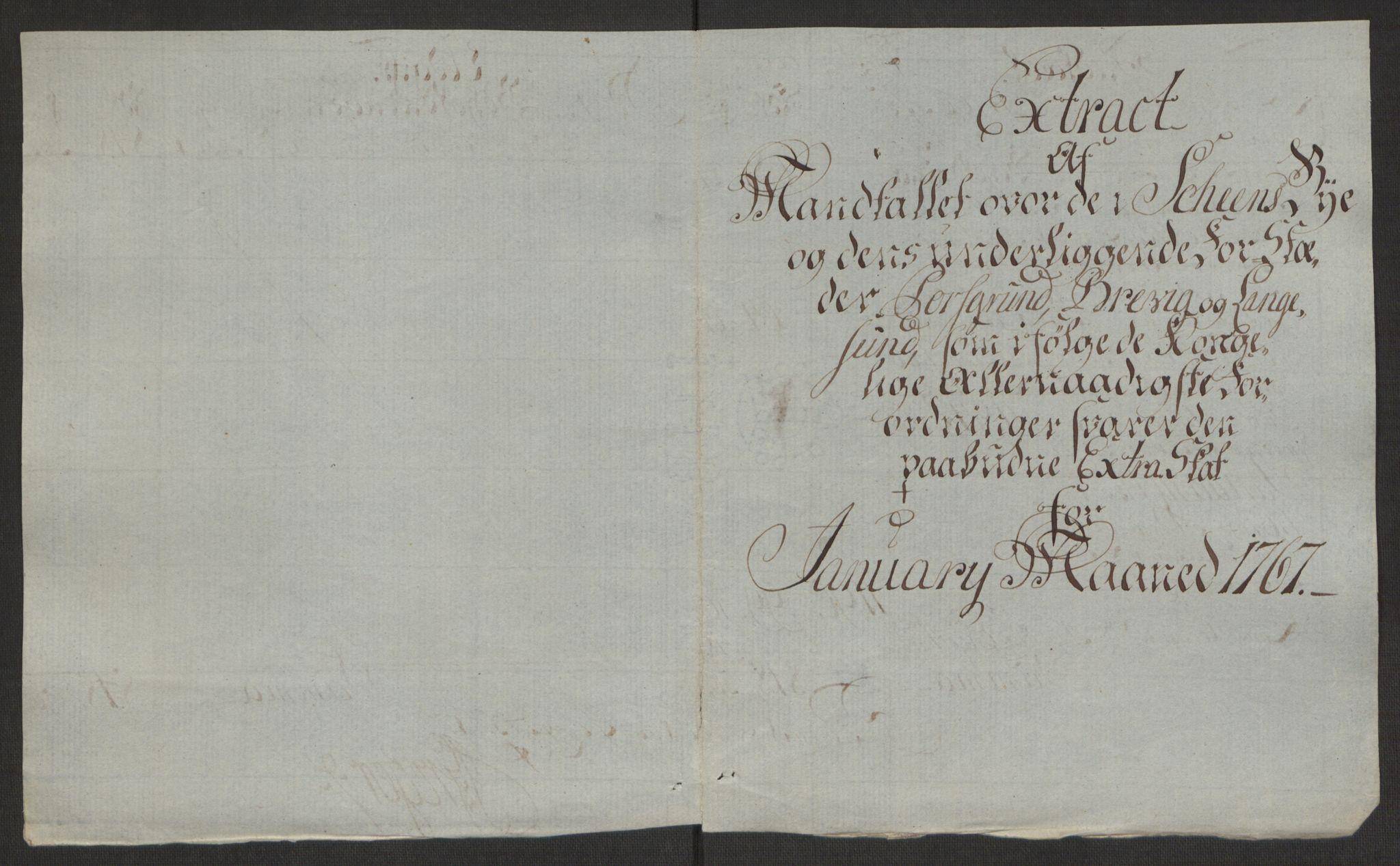 RA, Rentekammeret inntil 1814, Reviderte regnskaper, Byregnskaper, R/Rj/L0198: [J4] Kontribusjonsregnskap, 1762-1768, s. 432