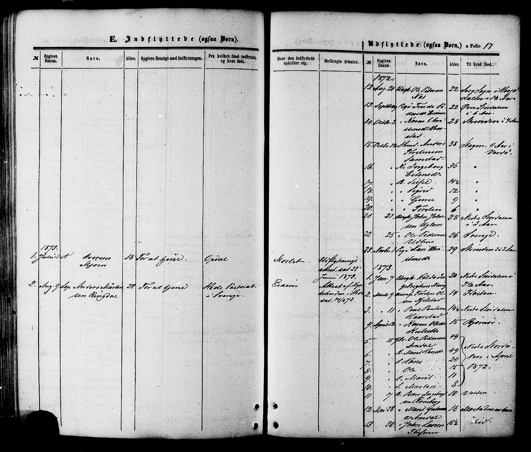 SAT, Ministerialprotokoller, klokkerbøker og fødselsregistre - Sør-Trøndelag, 695/L1147: Ministerialbok nr. 695A07, 1860-1877, s. 17