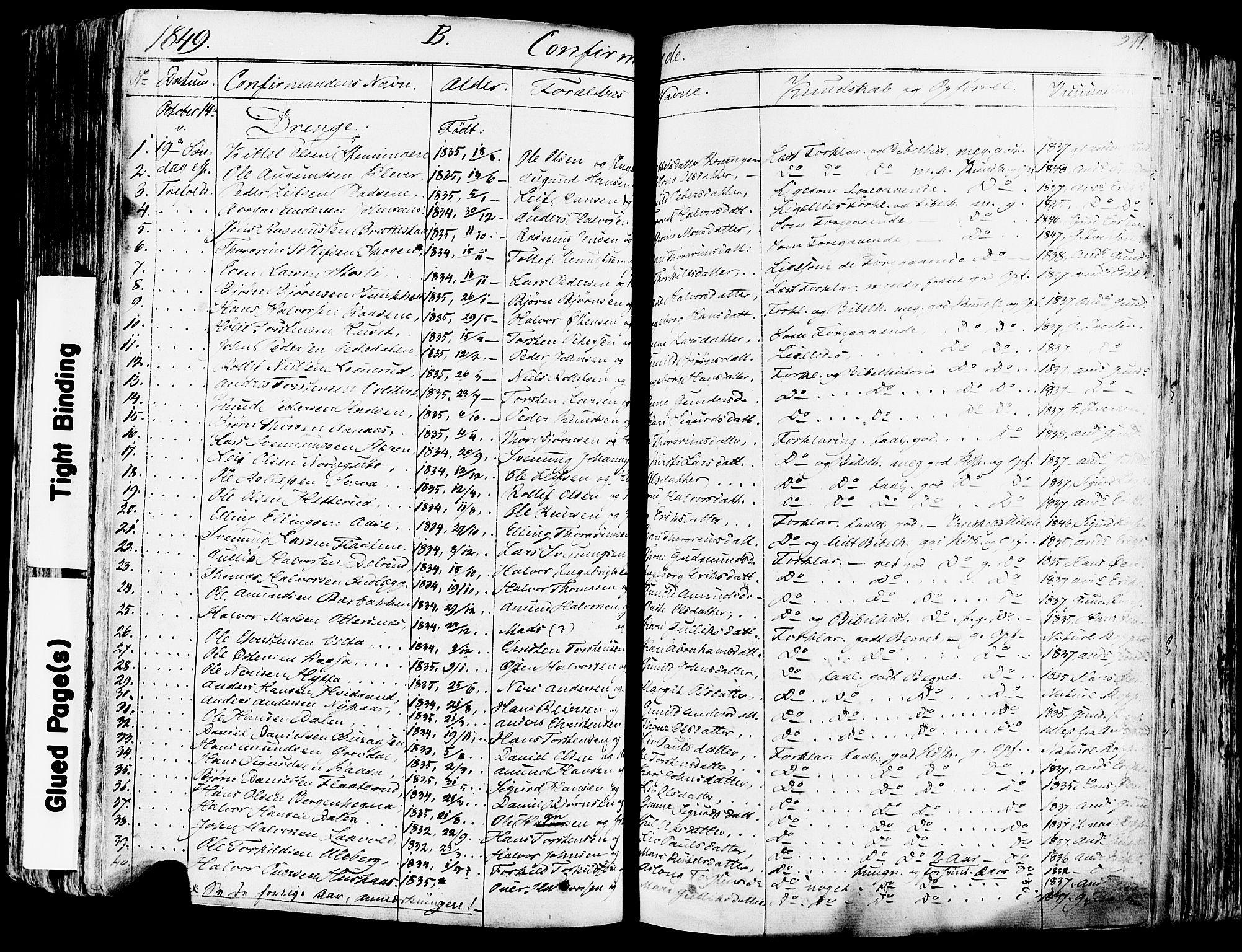 SAKO, Sauherad kirkebøker, F/Fa/L0006: Ministerialbok nr. I 6, 1827-1850, s. 211