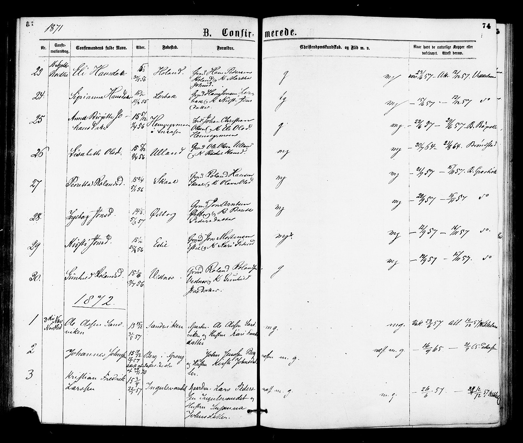 SAT, Ministerialprotokoller, klokkerbøker og fødselsregistre - Nord-Trøndelag, 755/L0493: Ministerialbok nr. 755A02, 1865-1881, s. 74
