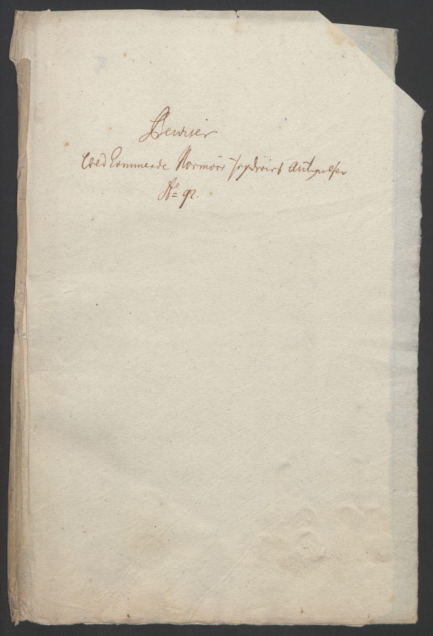 RA, Rentekammeret inntil 1814, Reviderte regnskaper, Fogderegnskap, R56/L3735: Fogderegnskap Nordmøre, 1692-1693, s. 179