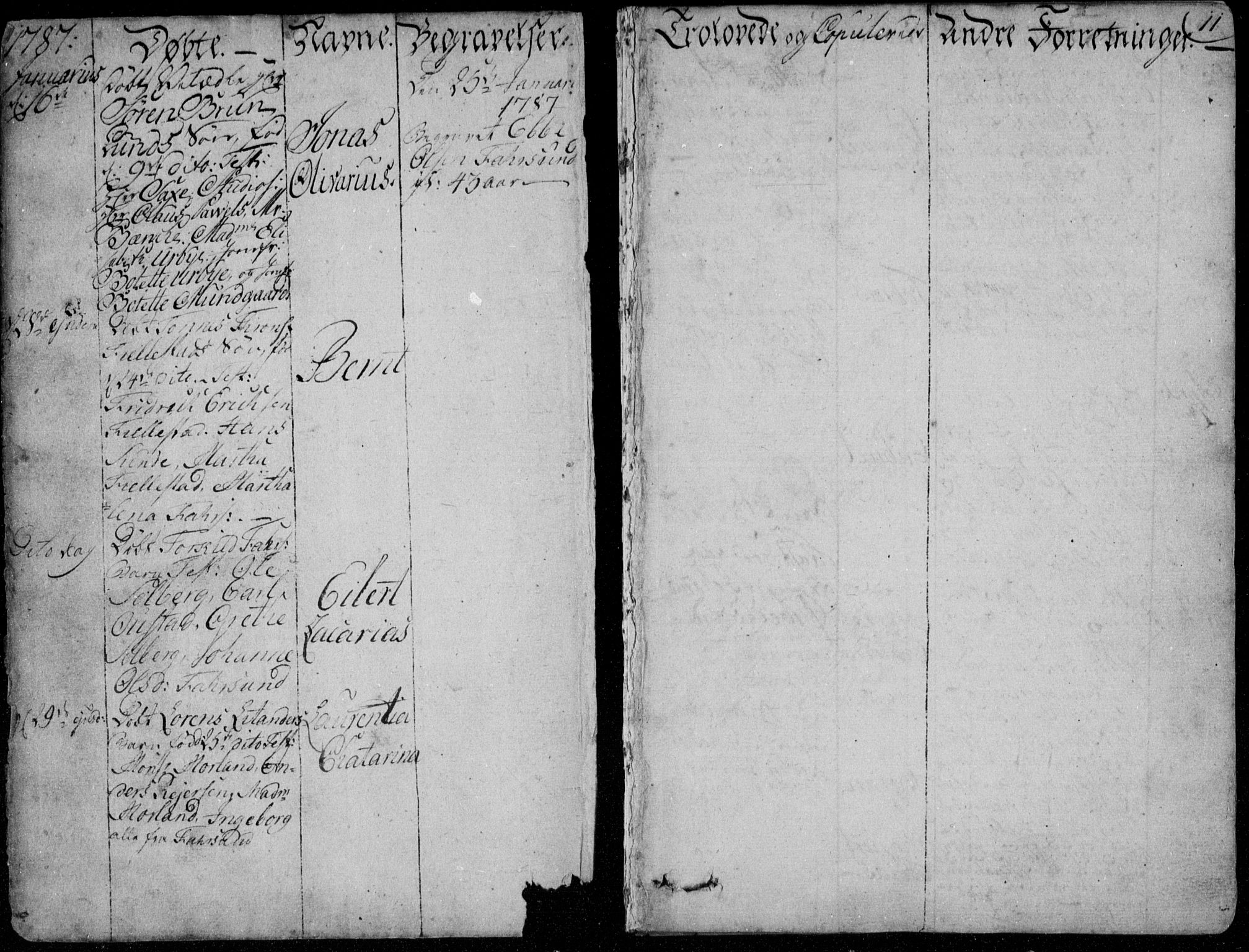 SAK, Farsund sokneprestkontor, F/Fa/L0001: Ministerialbok nr. A 1, 1784-1815, s. 11
