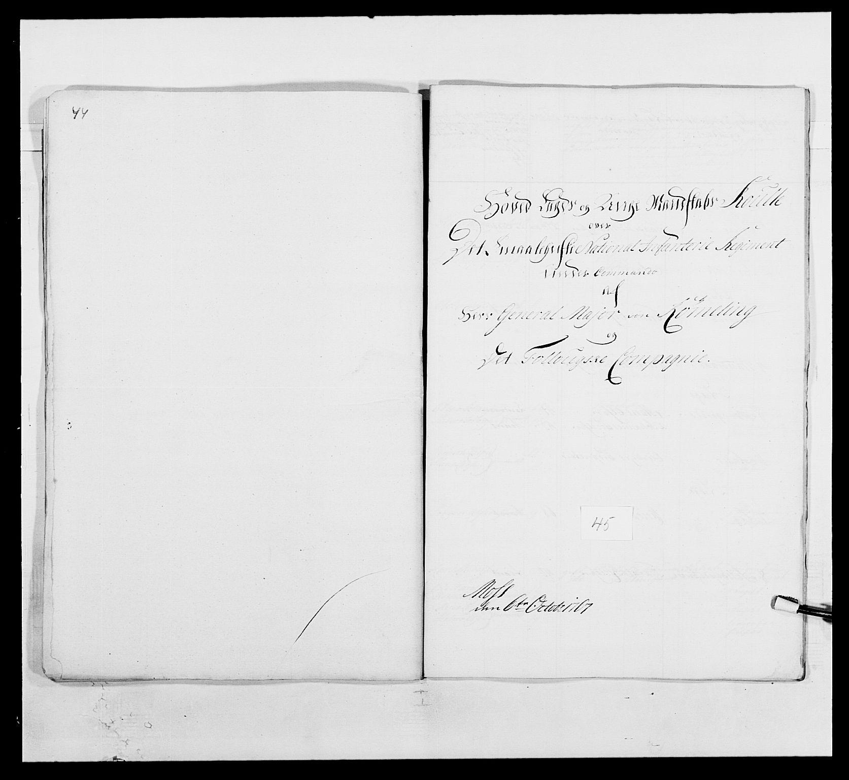 RA, Kommanderende general (KG I) med Det norske krigsdirektorium, E/Ea/L0496: 1. Smålenske regiment, 1765-1767, s. 878