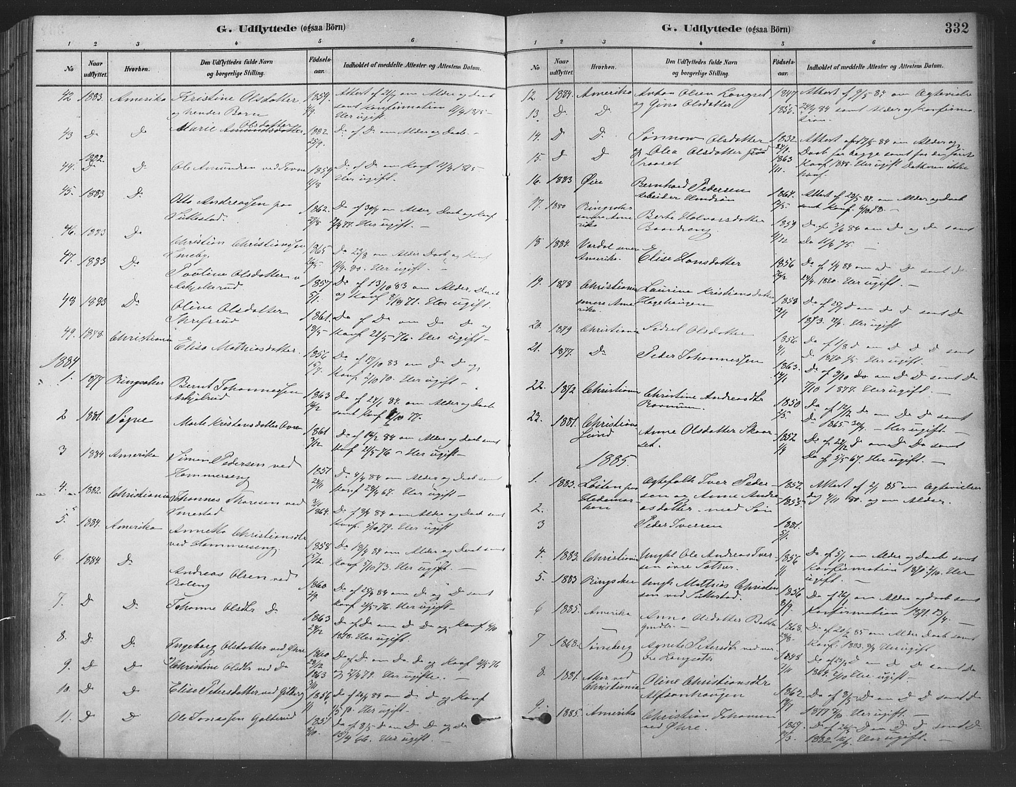 SAH, Fåberg prestekontor, Ministerialbok nr. 9, 1879-1898, s. 332