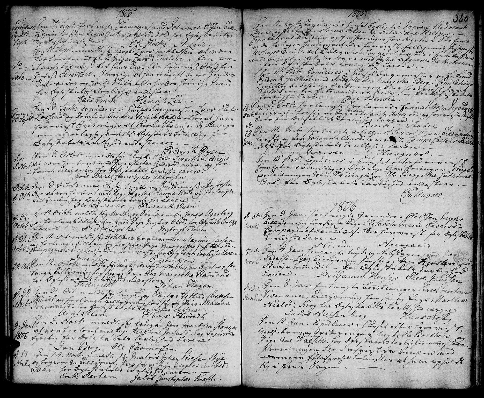 SAT, Ministerialprotokoller, klokkerbøker og fødselsregistre - Sør-Trøndelag, 601/L0038: Ministerialbok nr. 601A06, 1766-1877, s. 380