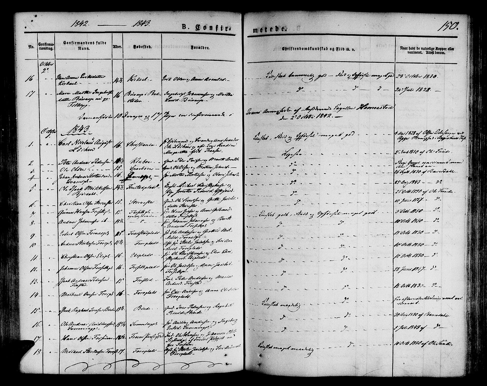 SAT, Ministerialprotokoller, klokkerbøker og fødselsregistre - Nord-Trøndelag, 746/L0445: Ministerialbok nr. 746A04, 1826-1846, s. 150