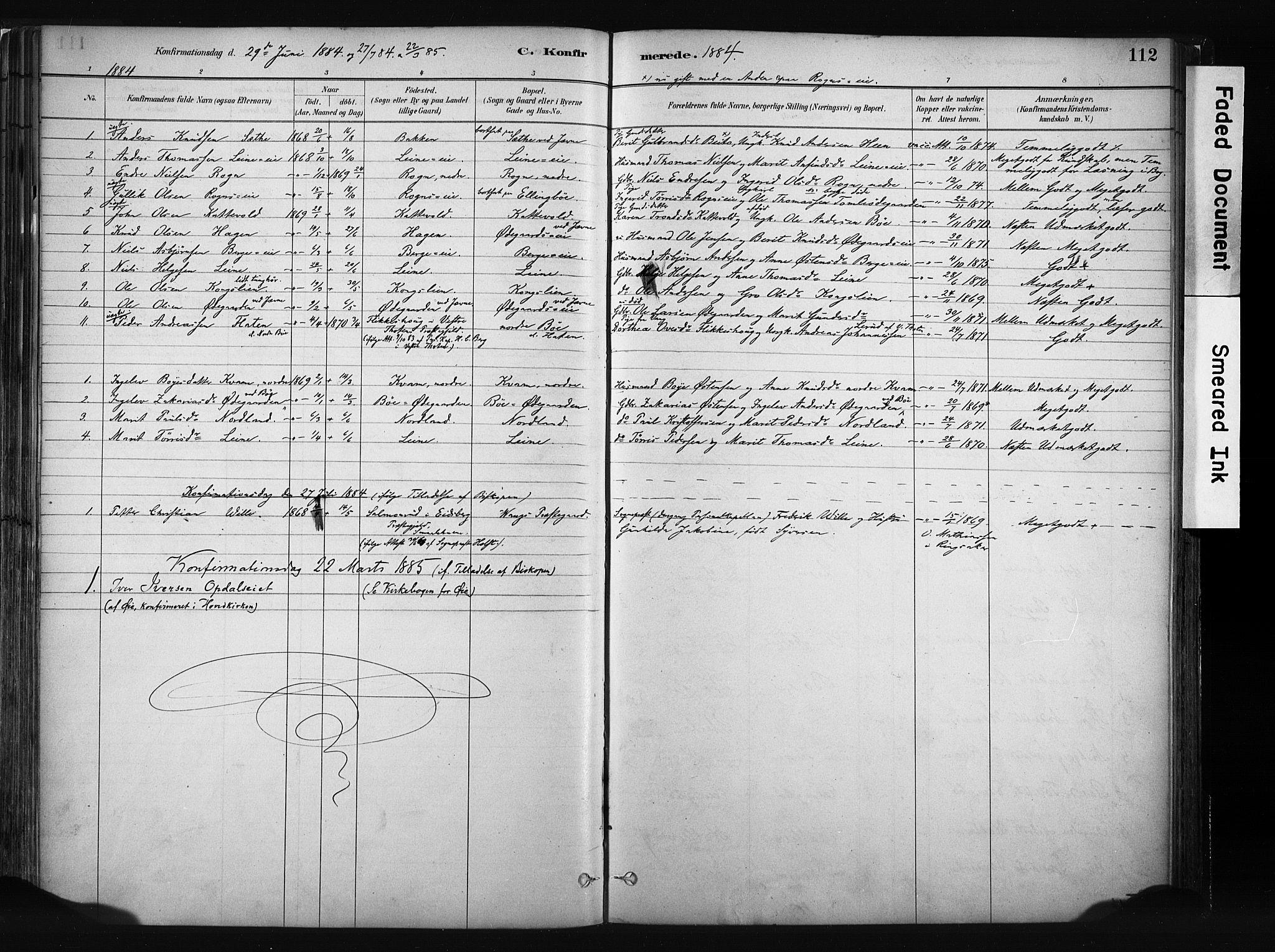 SAH, Vang prestekontor, Valdres, Ministerialbok nr. 8, 1882-1910, s. 112
