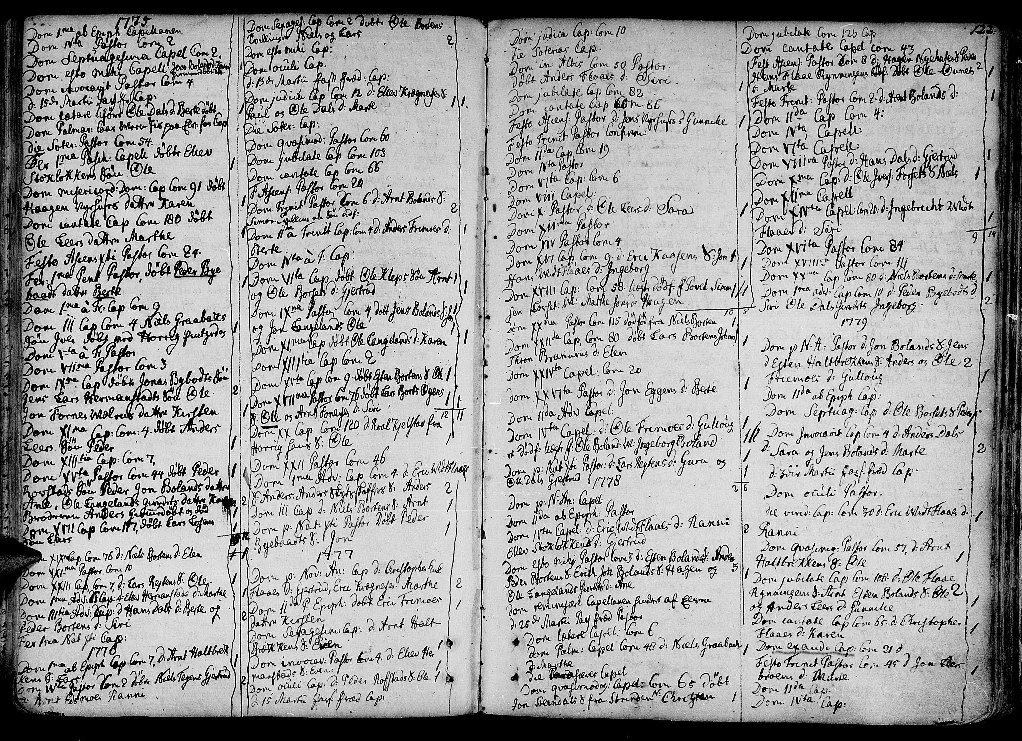 SAT, Ministerialprotokoller, klokkerbøker og fødselsregistre - Sør-Trøndelag, 691/L1062: Ministerialbok nr. 691A02 /2, 1768-1815, s. 122
