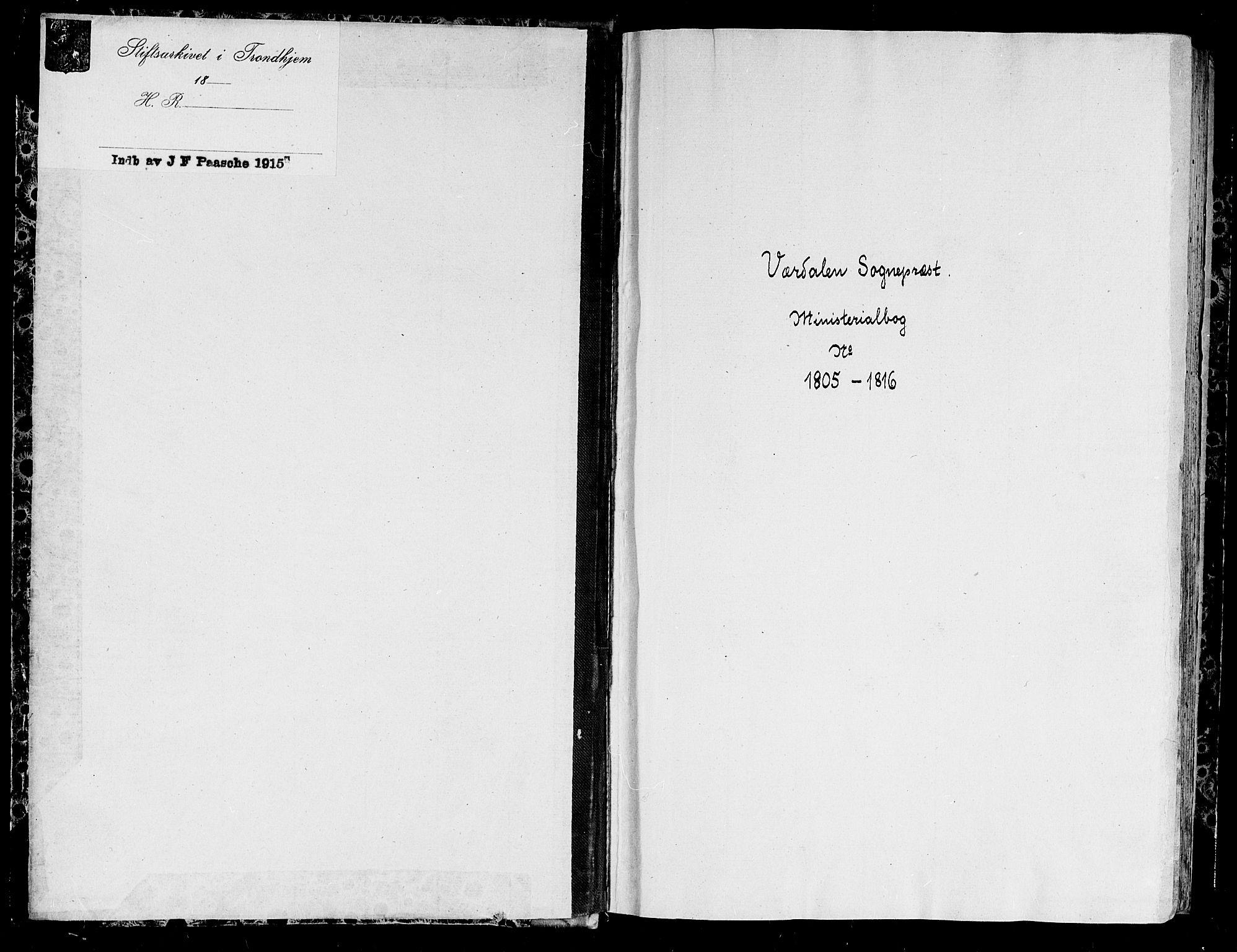 SAT, Ministerialprotokoller, klokkerbøker og fødselsregistre - Nord-Trøndelag, 723/L0233: Ministerialbok nr. 723A04, 1805-1816