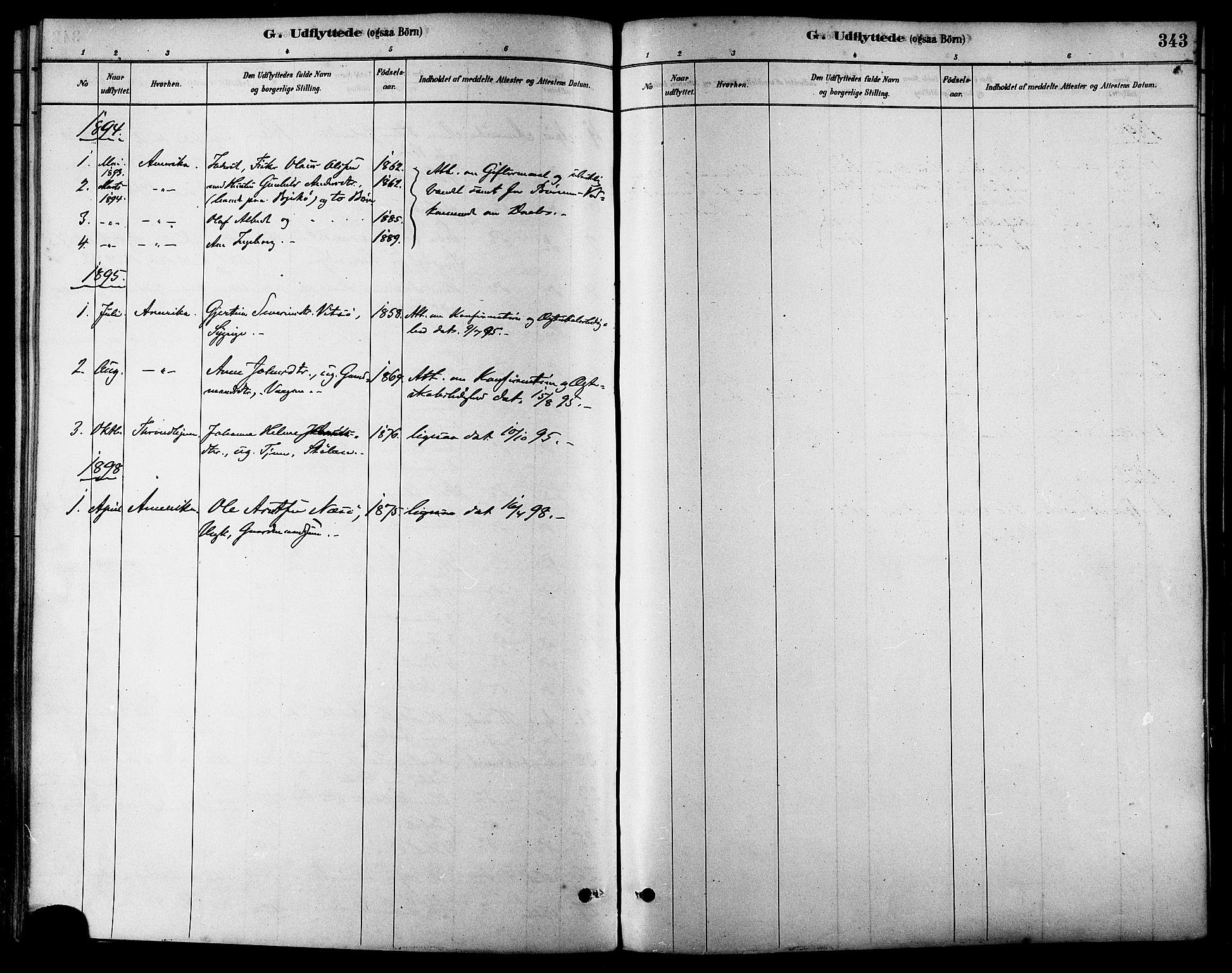 SAT, Ministerialprotokoller, klokkerbøker og fødselsregistre - Sør-Trøndelag, 630/L0496: Ministerialbok nr. 630A09, 1879-1895, s. 343