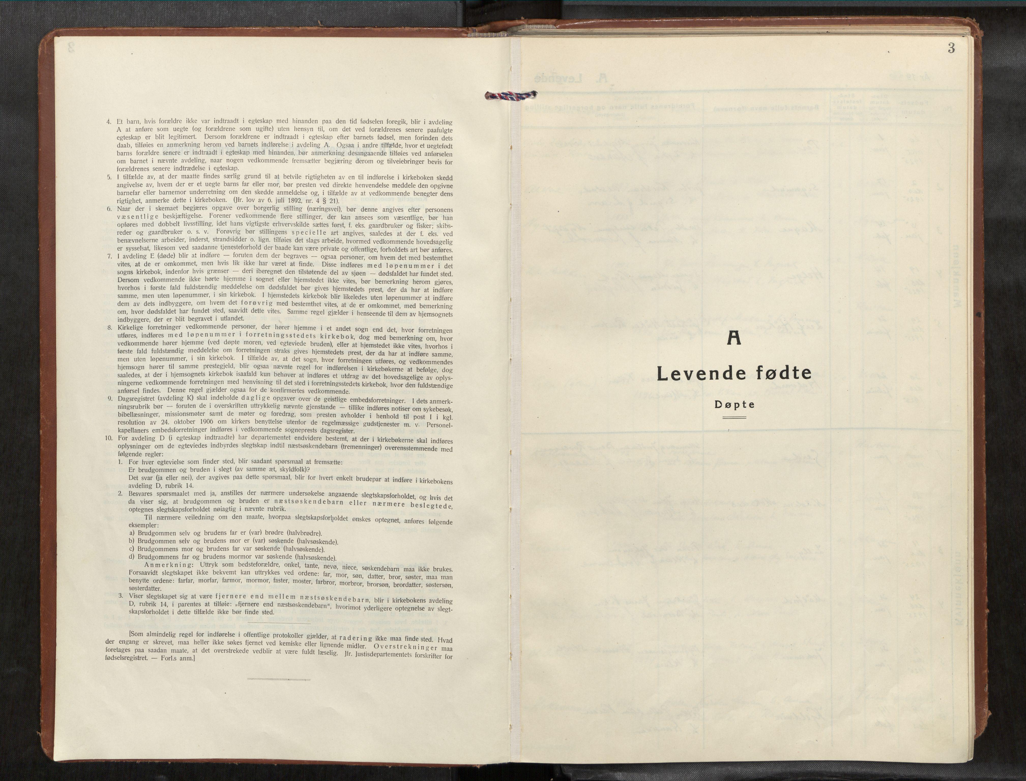 SAT, Frosta sokneprestkontor, H/Haa/L0001: Ministerialbok nr. 1, 1926-1934, s. 3
