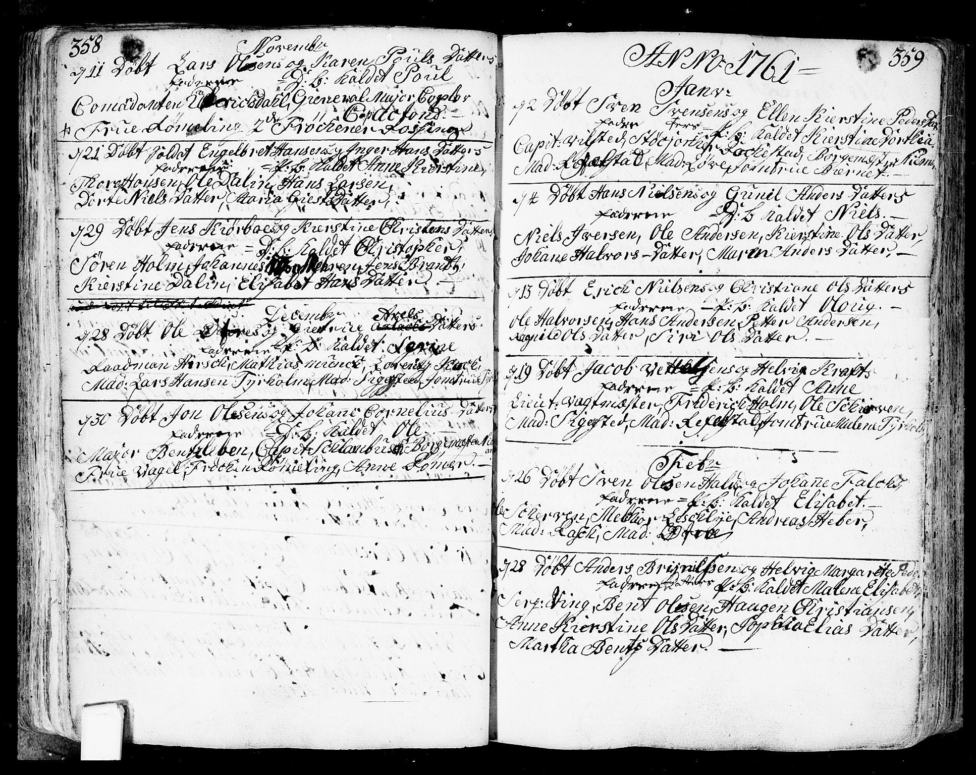 SAO, Fredrikstad prestekontor Kirkebøker, F/Fa/L0002: Ministerialbok nr. 2, 1750-1804, s. 358-359
